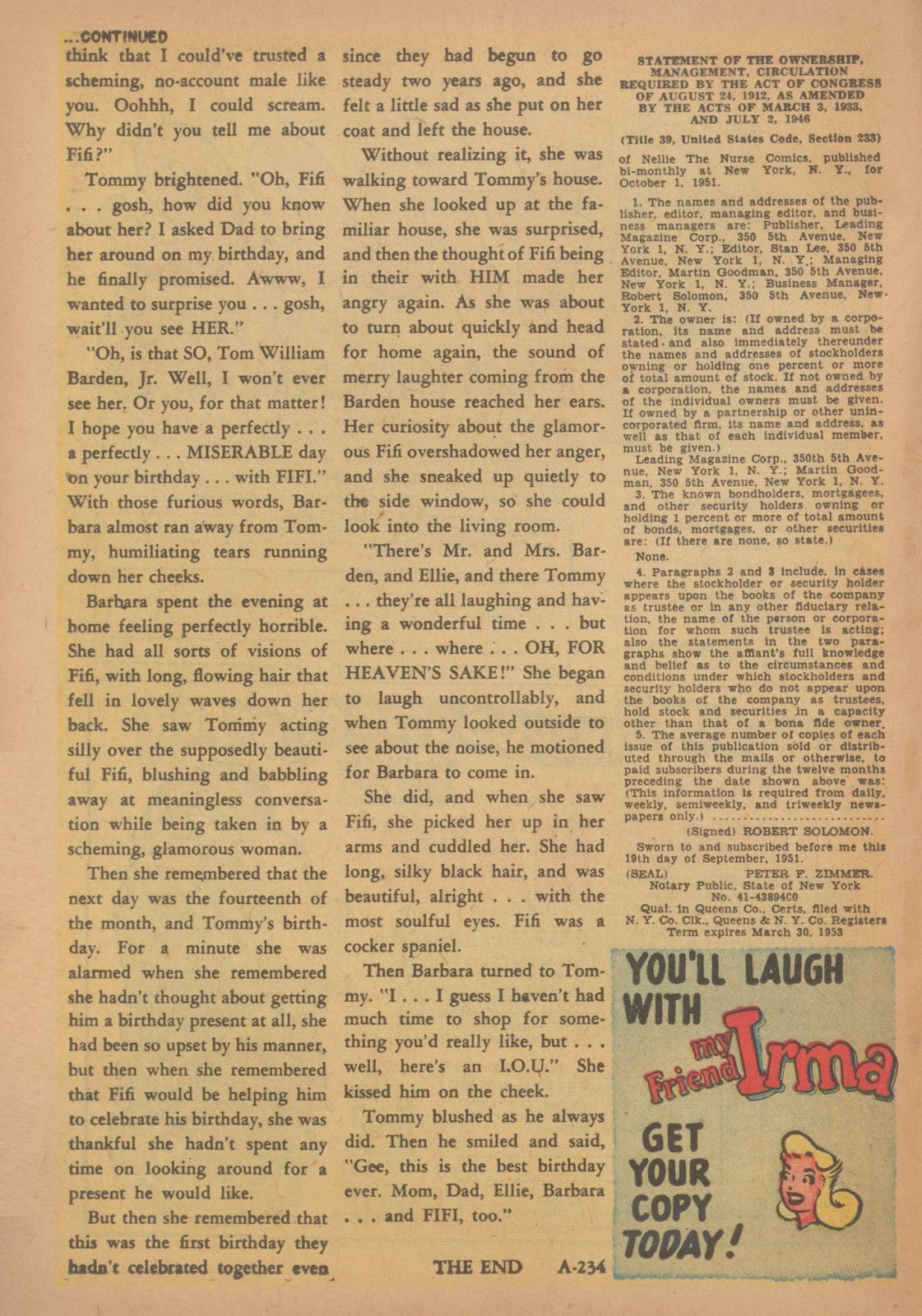 Read online Nellie The Nurse (1945) comic -  Issue #34 - 18
