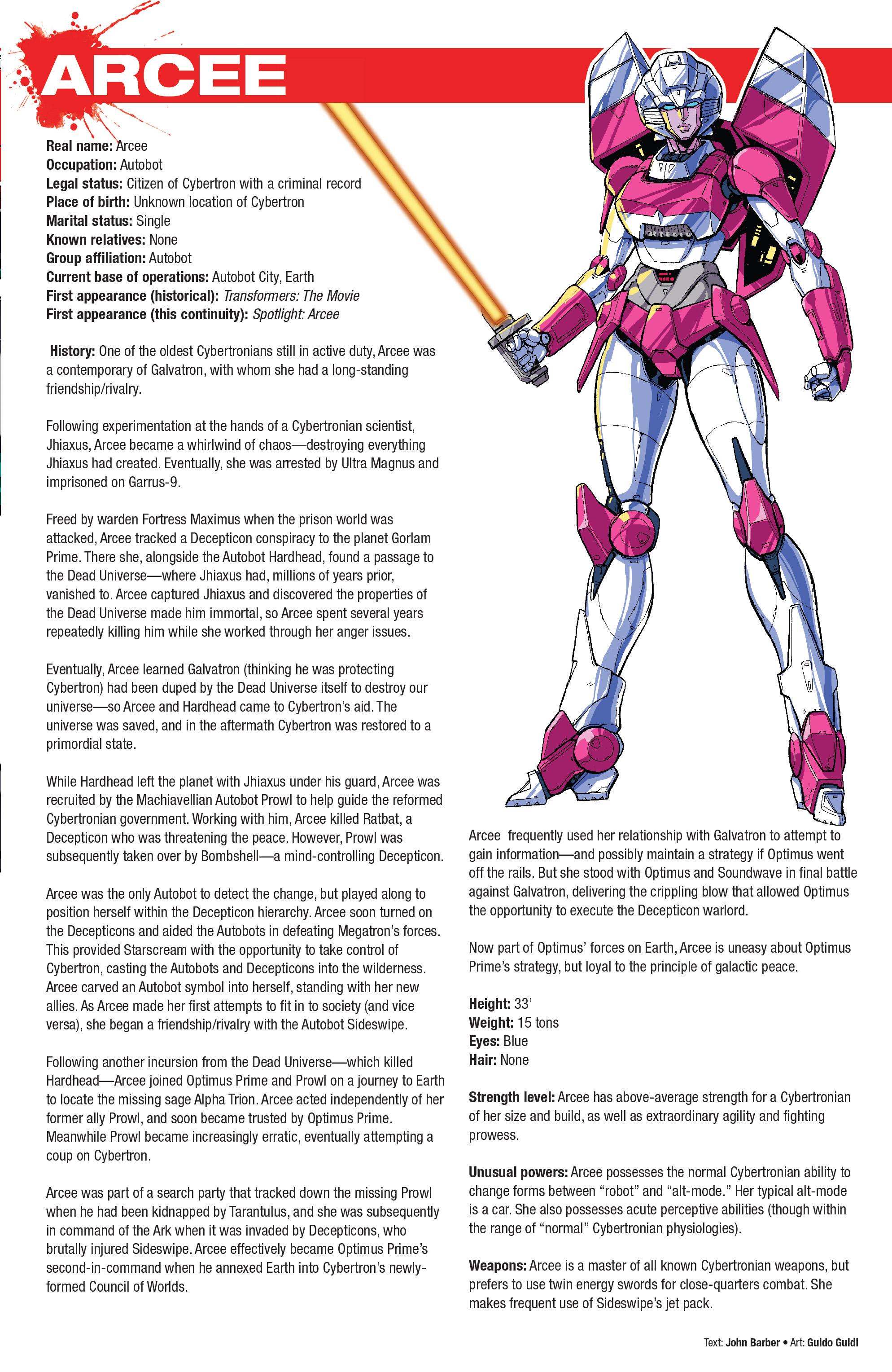 Read online Hasbro Heroes Sourcebook comic -  Issue #1 - 11