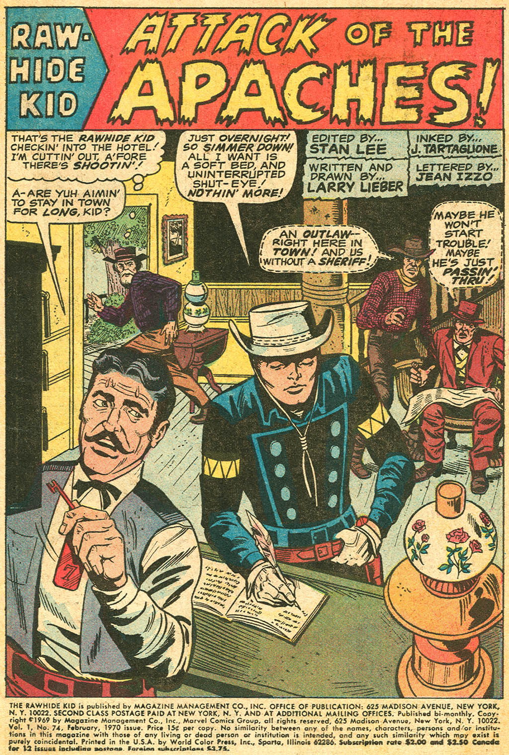 The Rawhide Kid (1955) issue 74 - Page 3