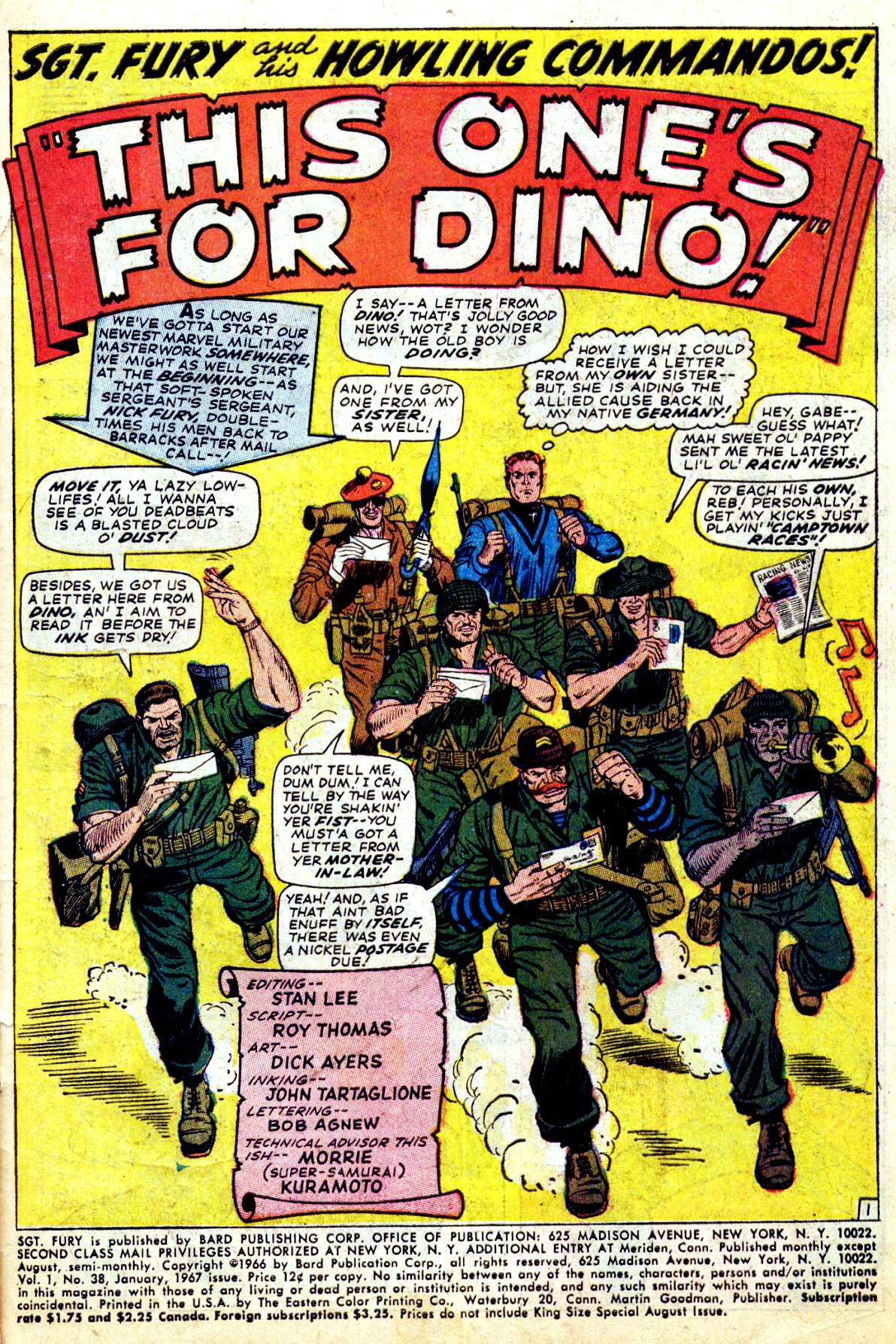 Read online Sgt. Fury comic -  Issue #38 - 3