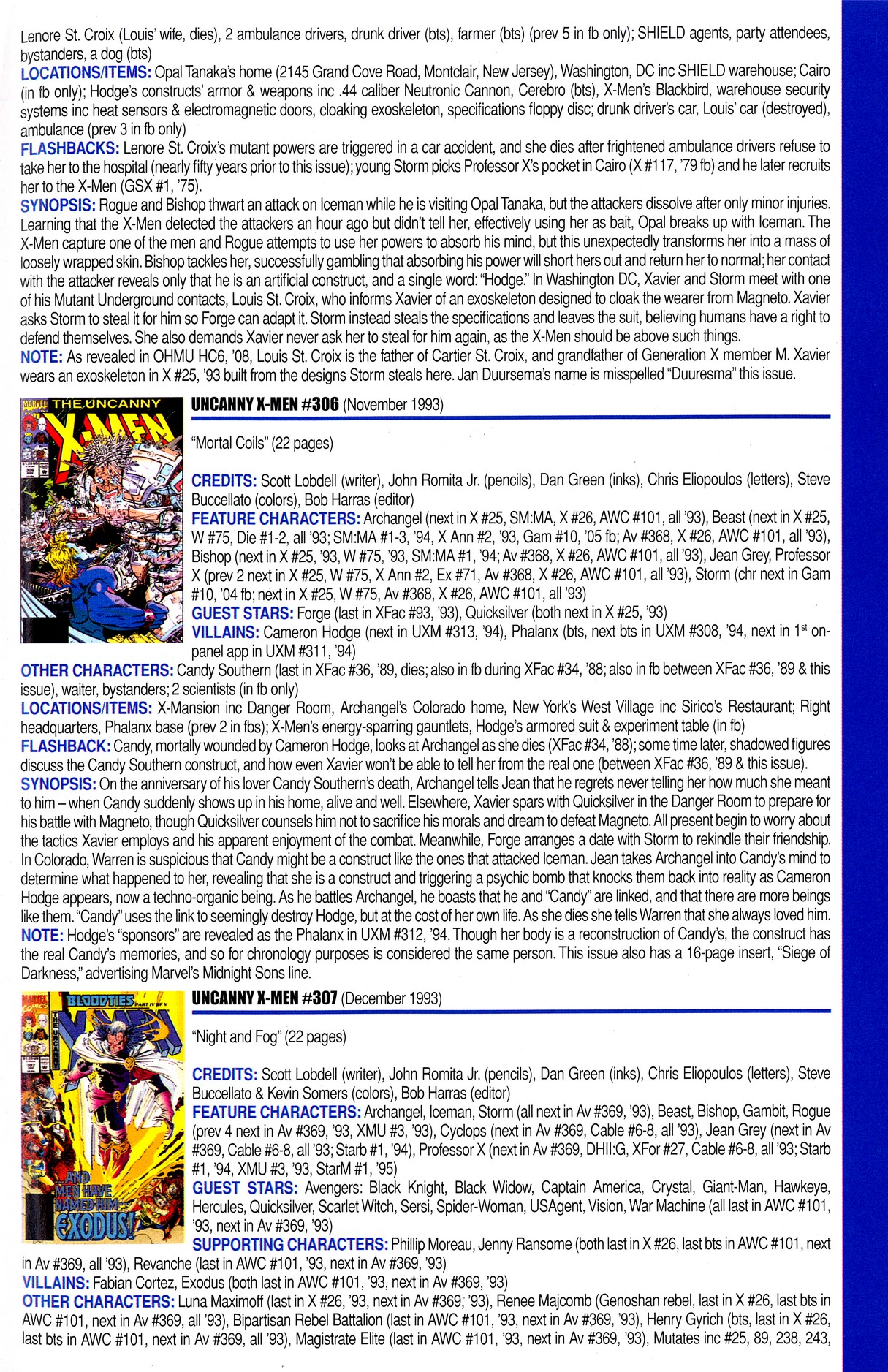 Read online Official Index to the Marvel Universe comic -  Issue #8 - 47