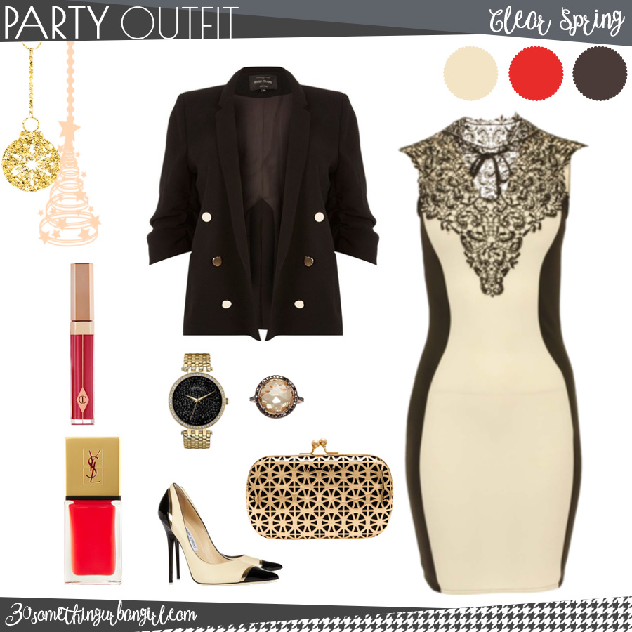 Chic Christmas party outfit for Clear Spring seasonal color women