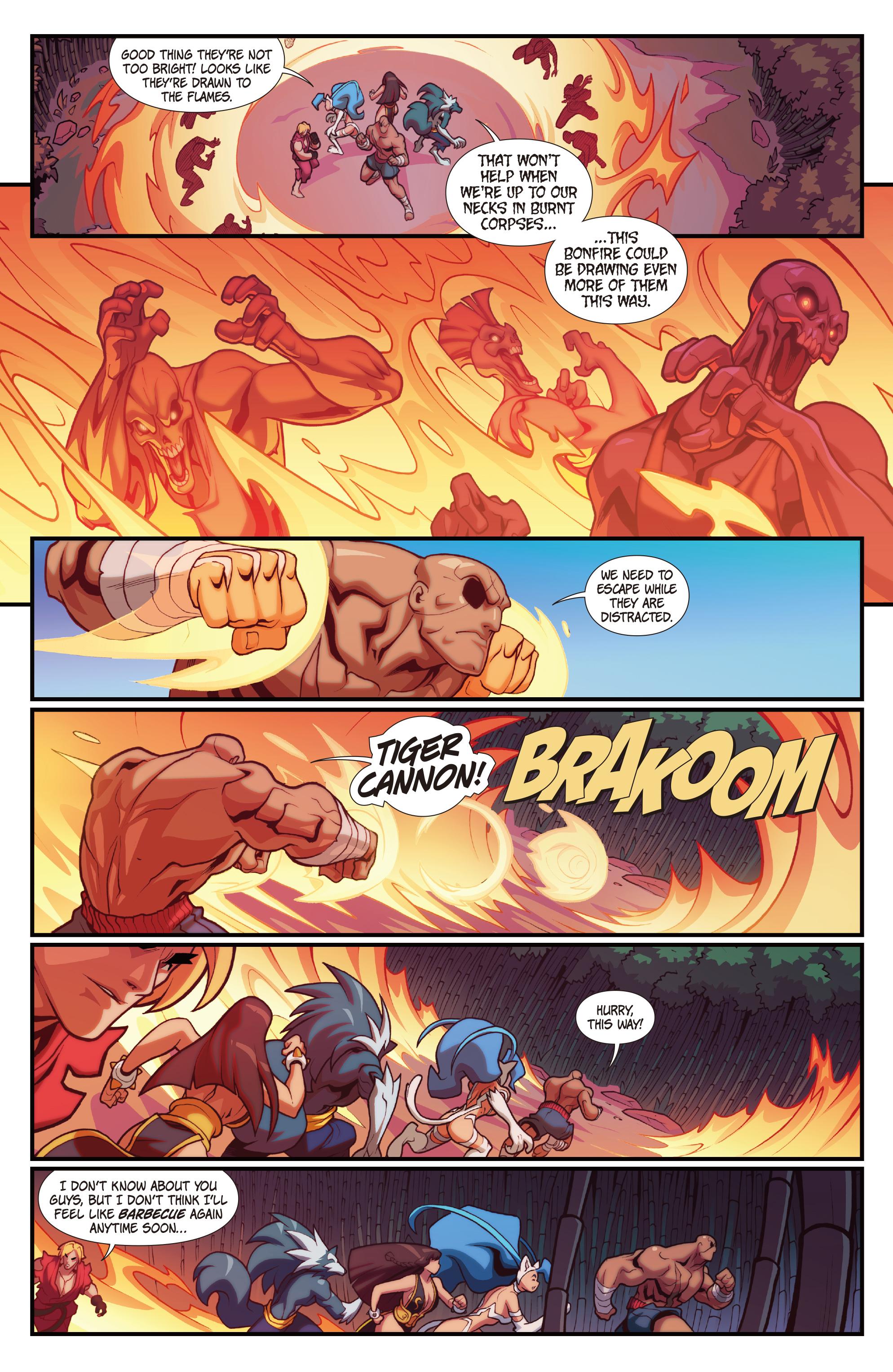 Read online Street Fighter VS Darkstalkers comic -  Issue #2 - 17