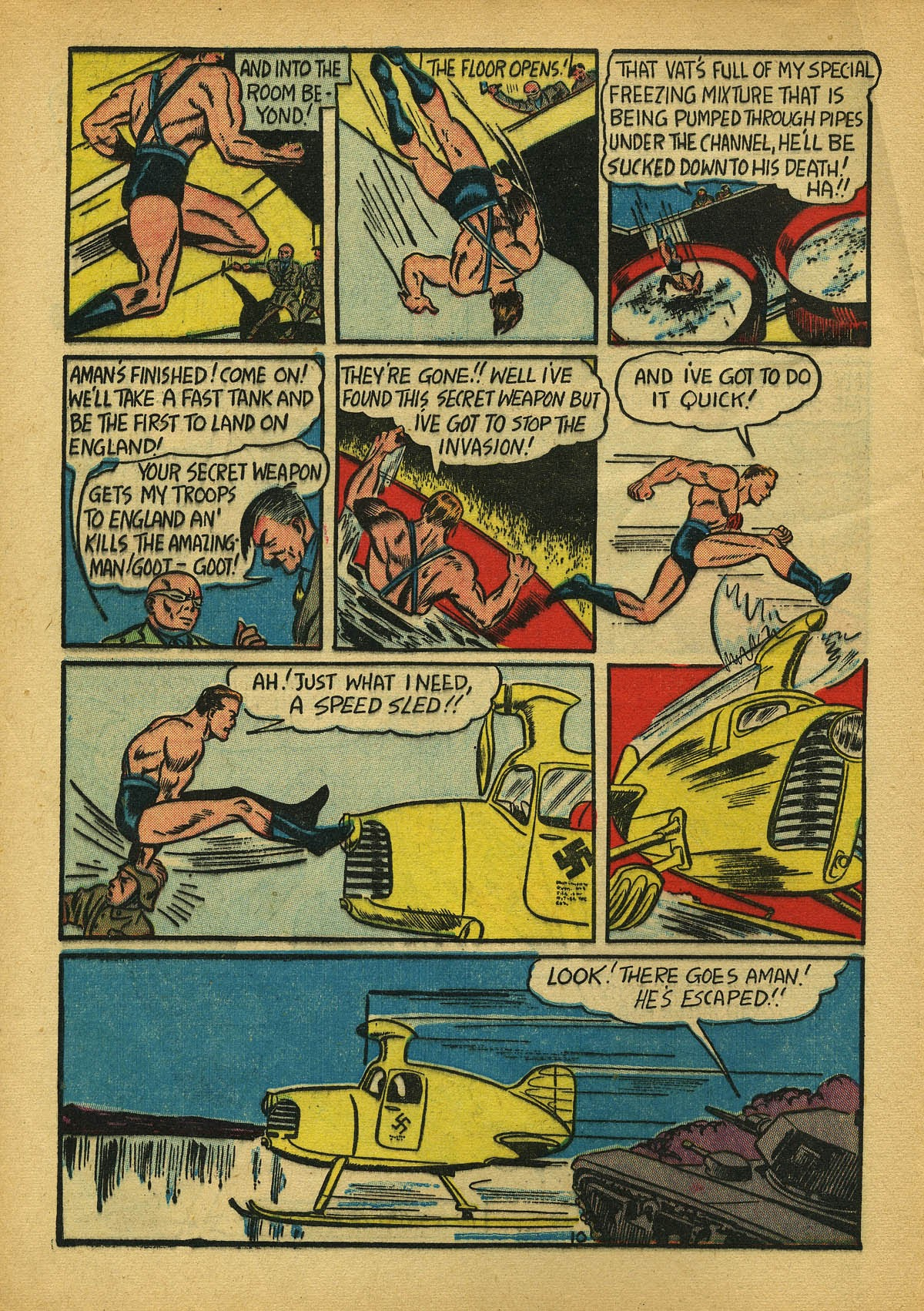 Read online Amazing Man Comics comic -  Issue #22 - 13