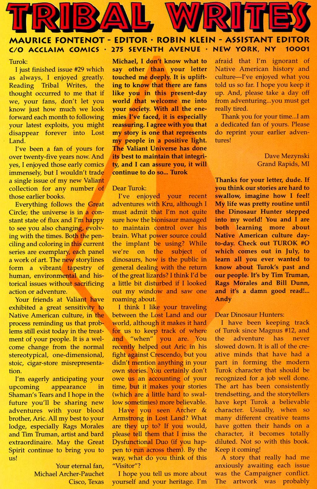 Read online Turok, Dinosaur Hunter (1993) comic -  Issue #32 - 21