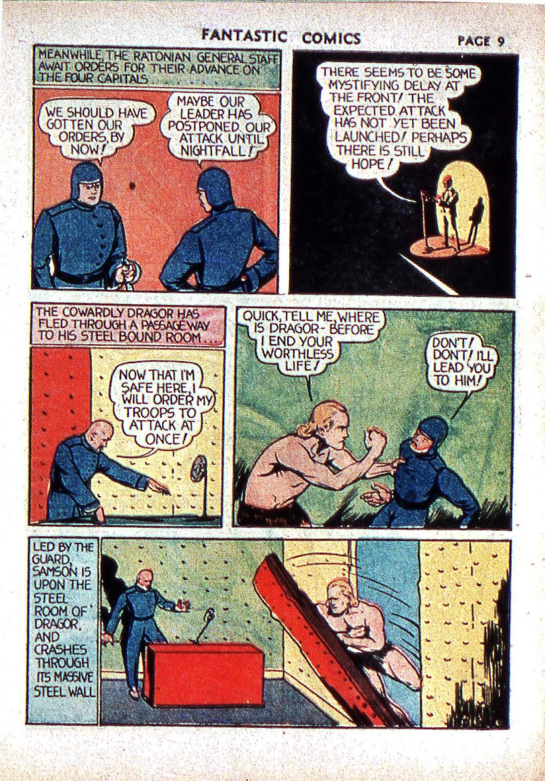 Read online Fantastic Comics comic -  Issue #2 - 11