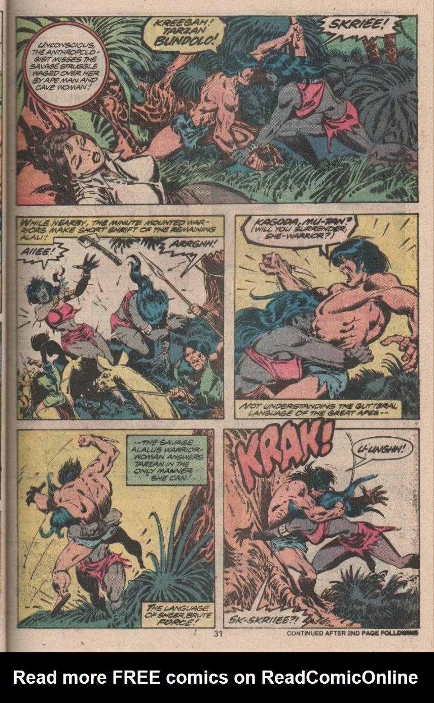 Read online Tarzan (1977) comic -  Issue # _Annual 3 - 24