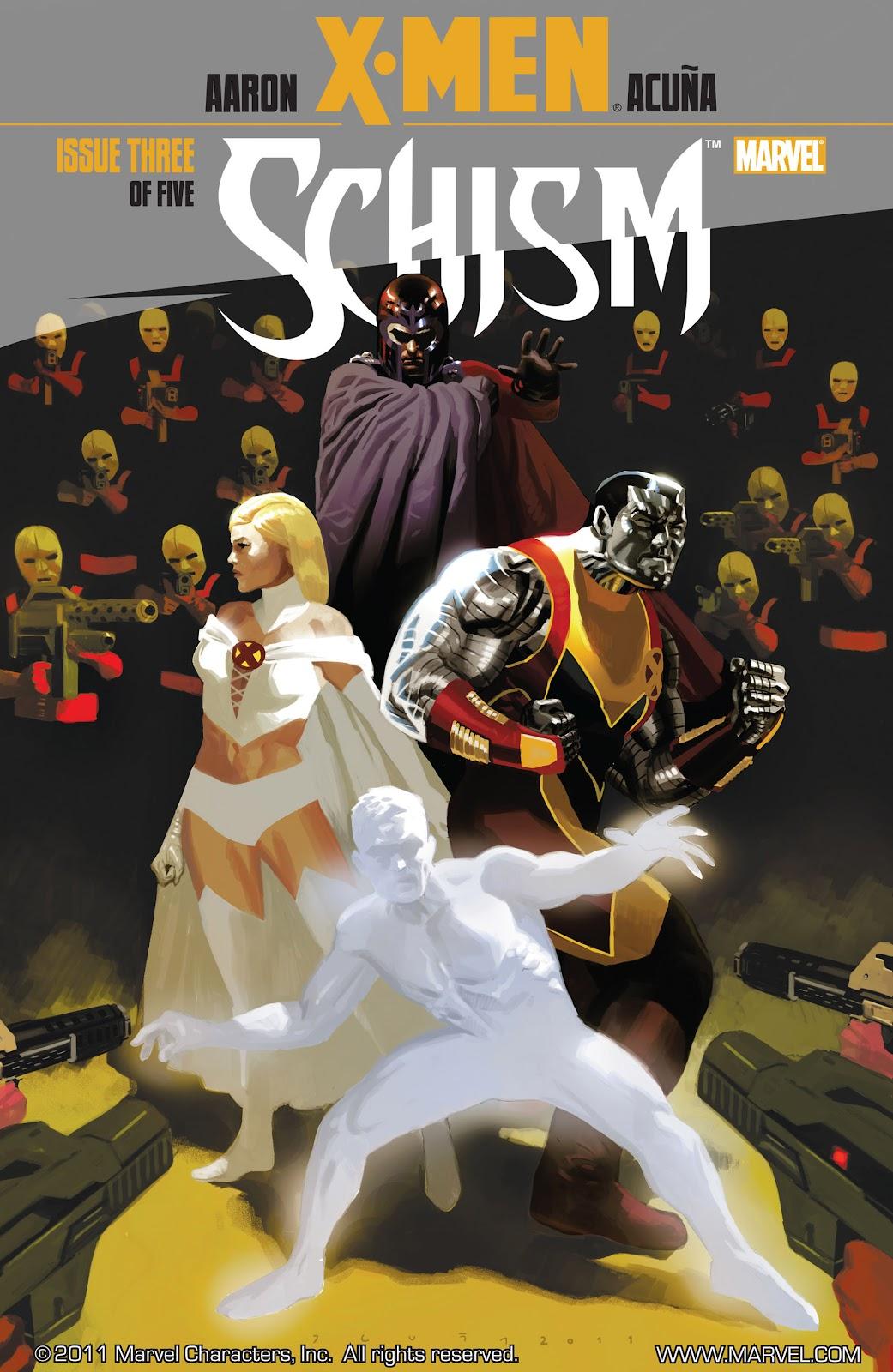 X-Men: Schism issue 3 - Page 1