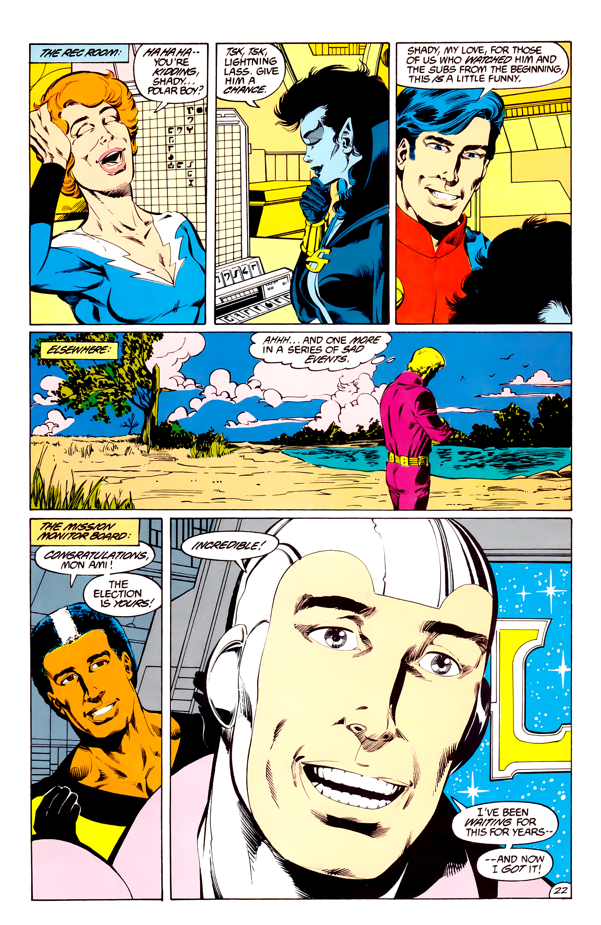 Legion of Super-Heroes (1984) 36 Page 22
