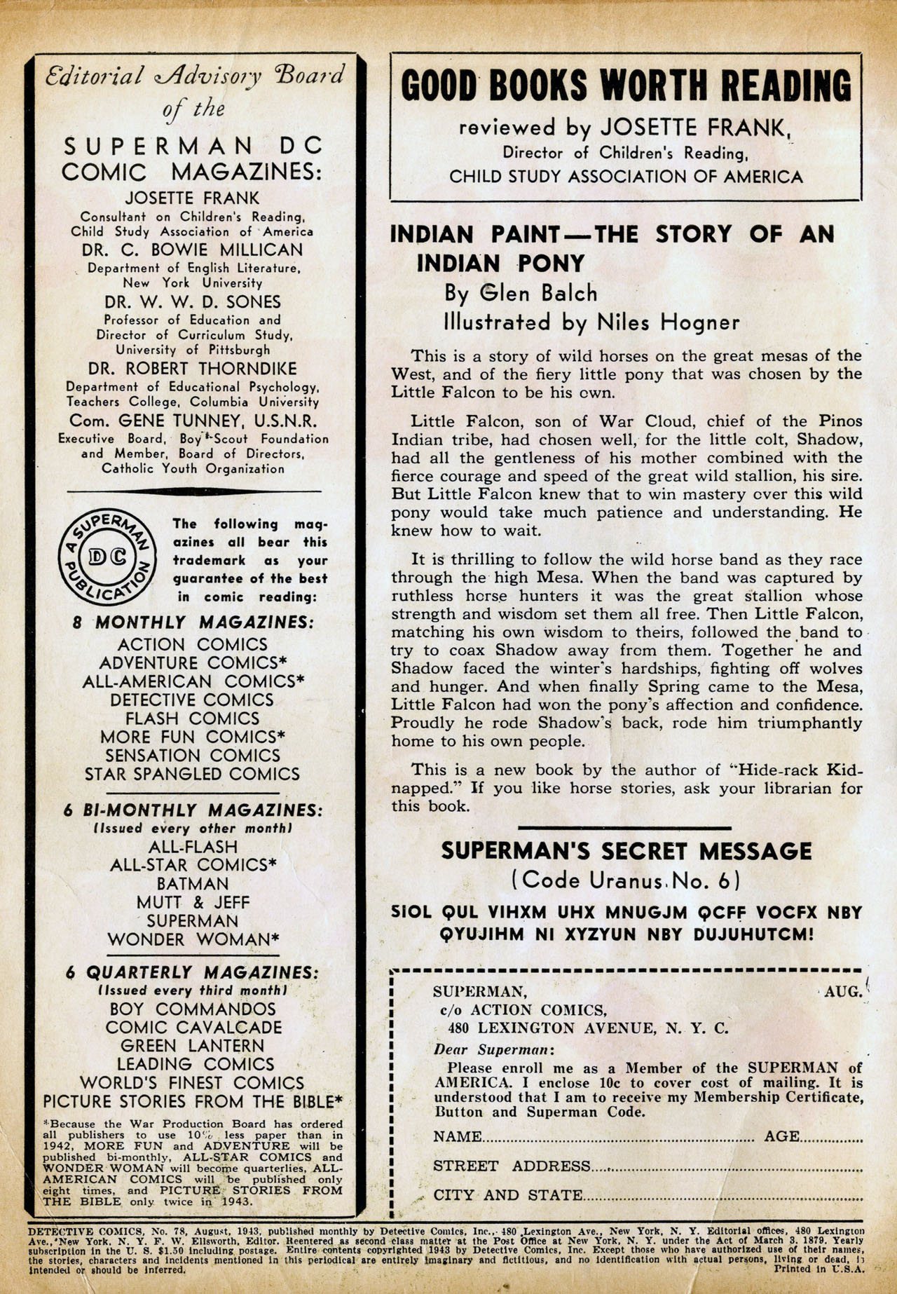 Read online Detective Comics (1937) comic -  Issue #78 - 2