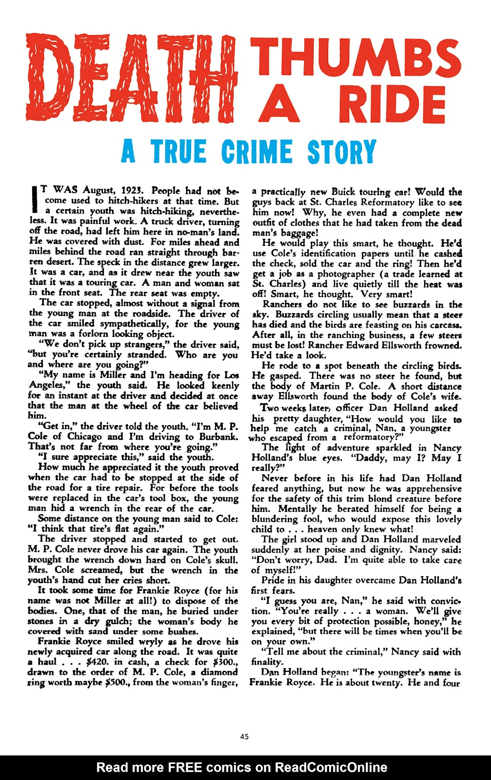 Read online Crime Does Not Pay Archives comic -  Issue # TPB 9 (Part 1) - 47