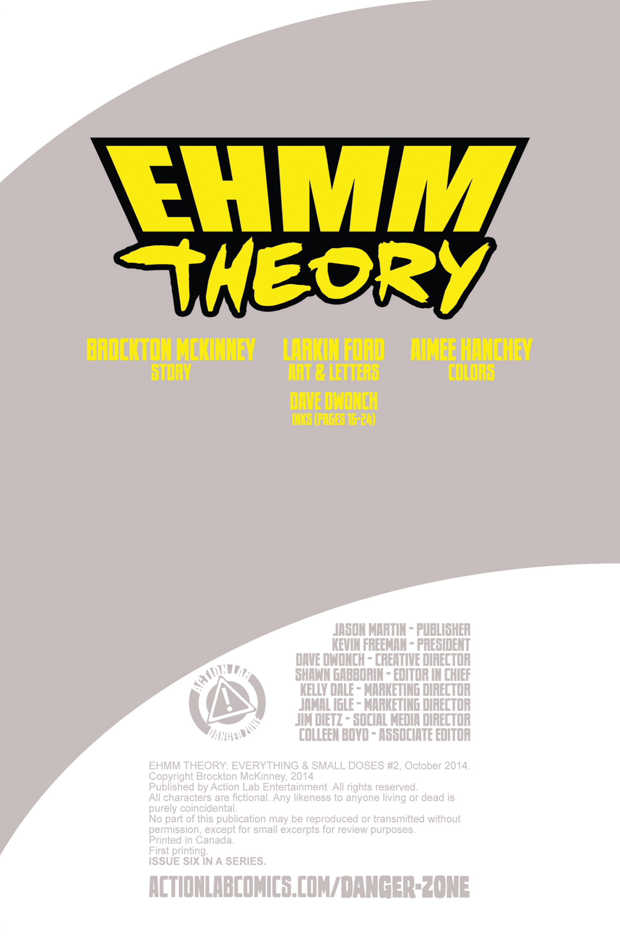 Read online Ehmm Theory: Everything & Small Doses comic -  Issue #2 - 2