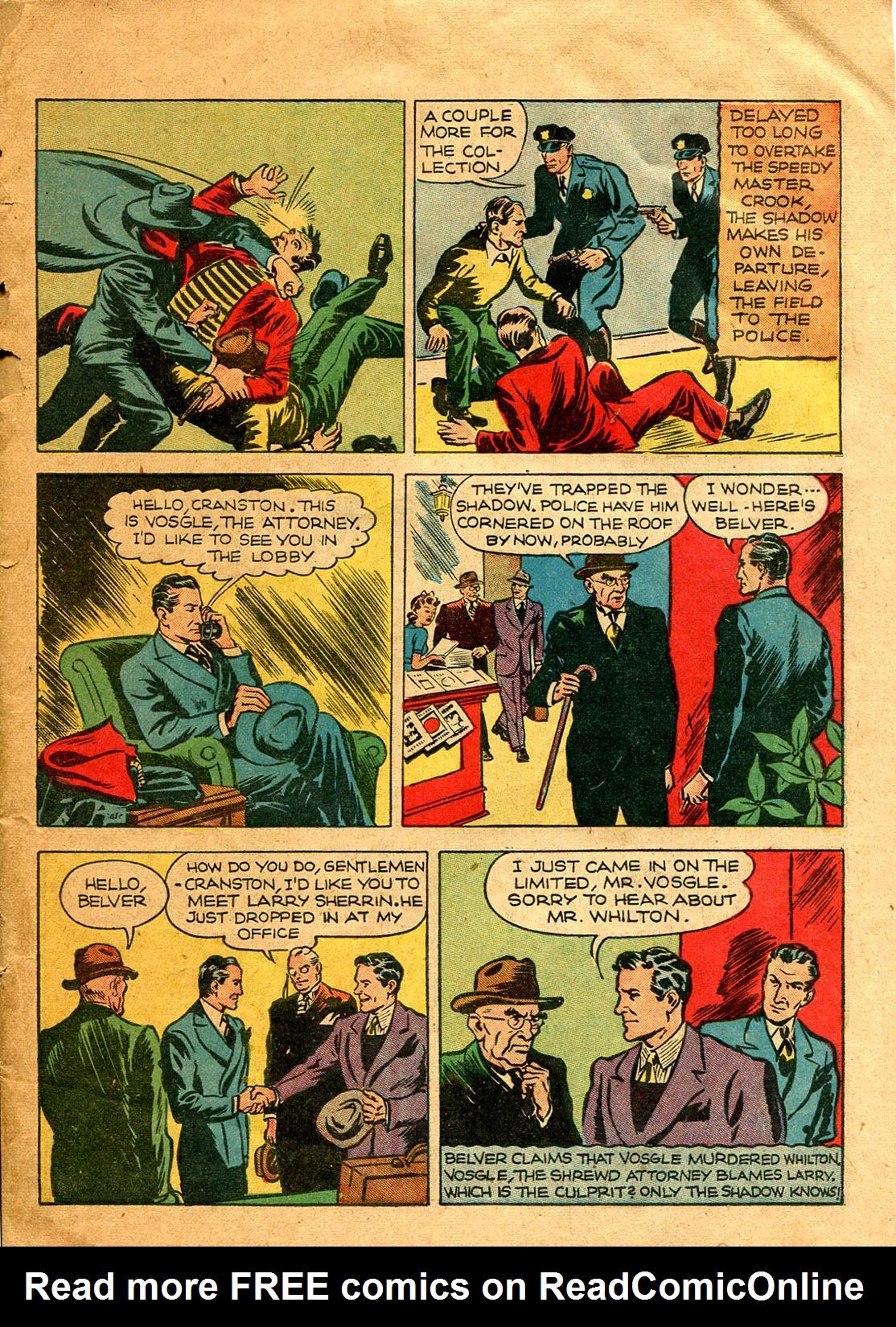 Read online Shadow Comics comic -  Issue #9 - 13