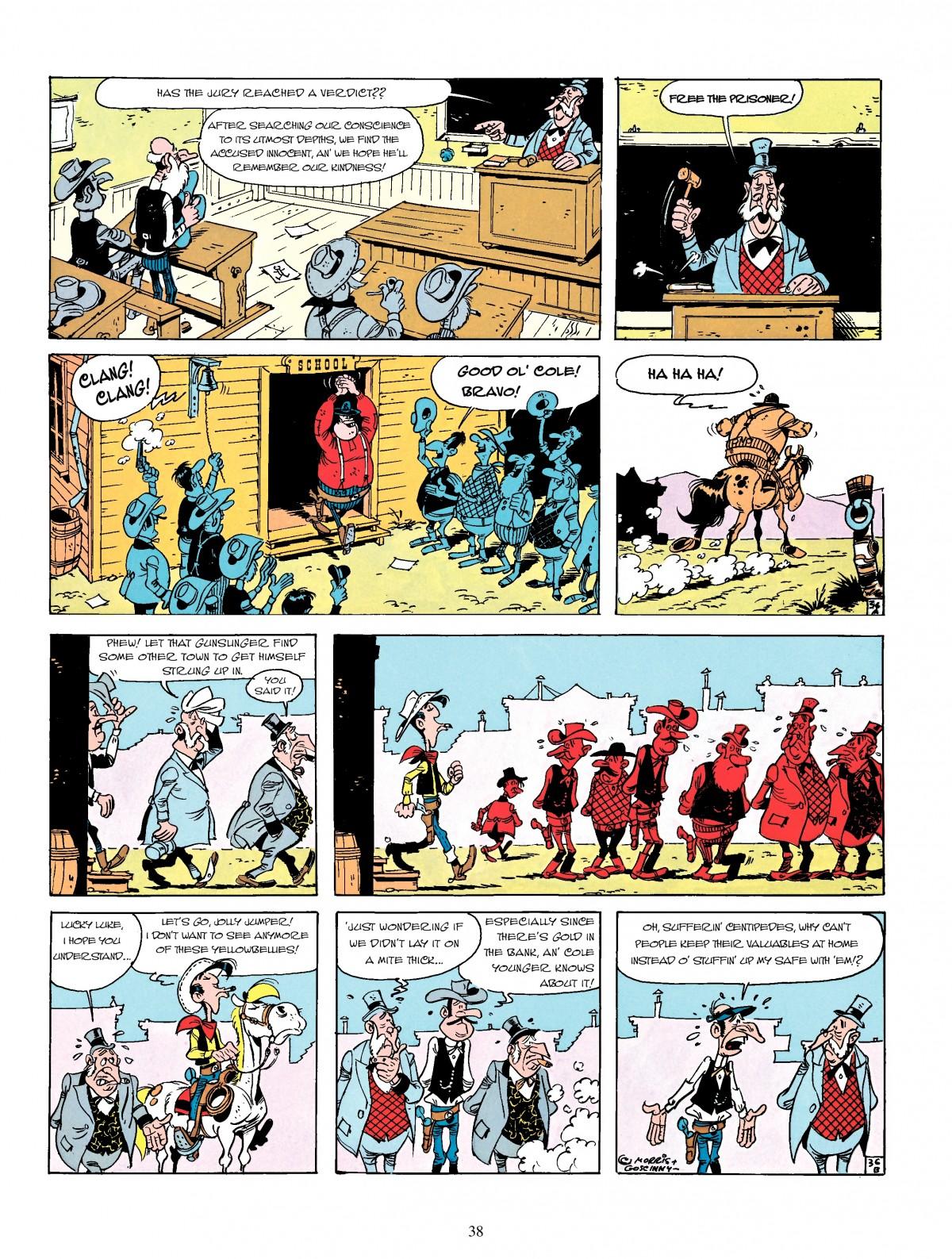 Read online A Lucky Luke Adventure comic -  Issue #4 - 40