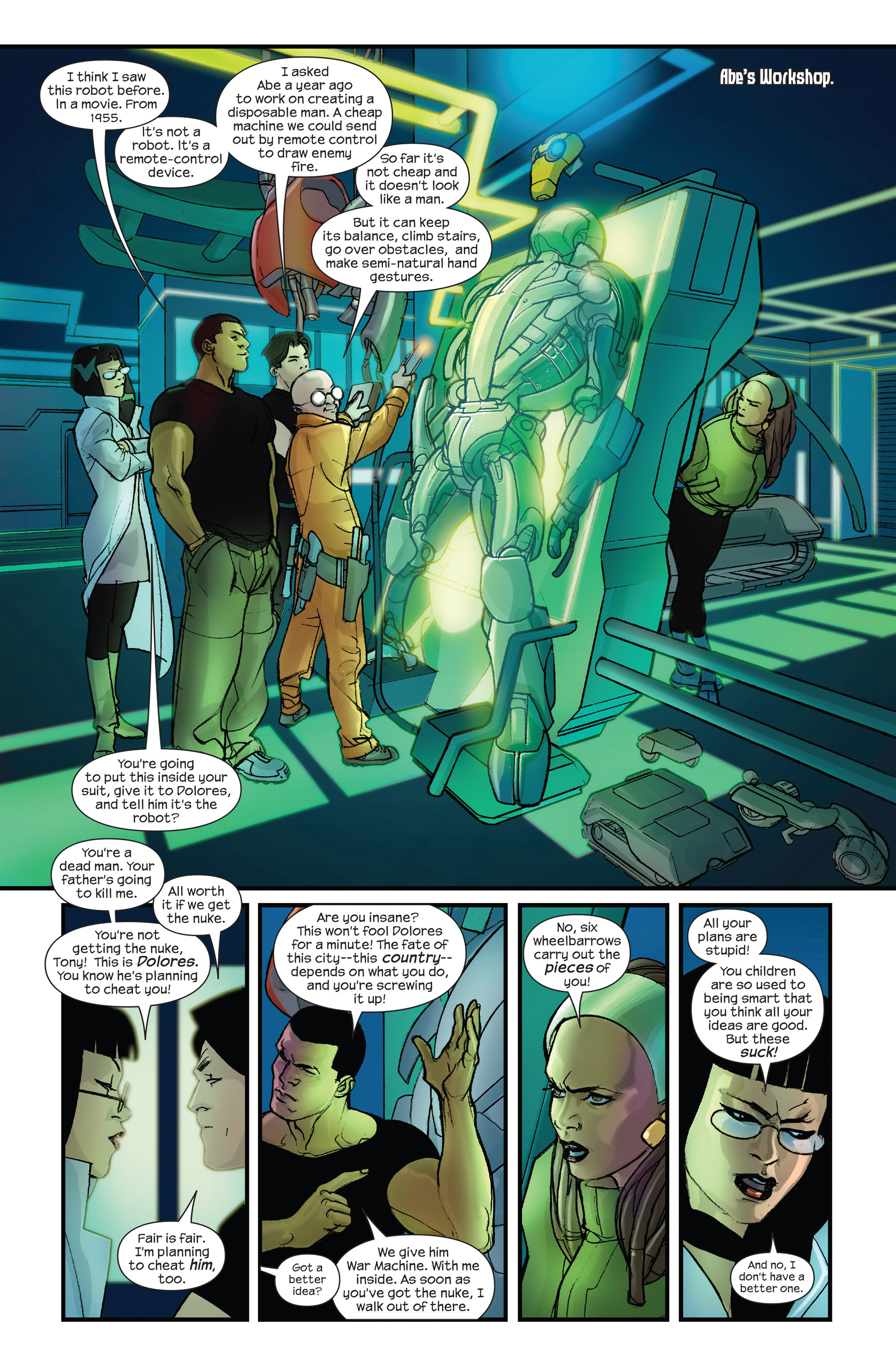 Read online Ultimate Iron Man II comic -  Issue #3 - 9