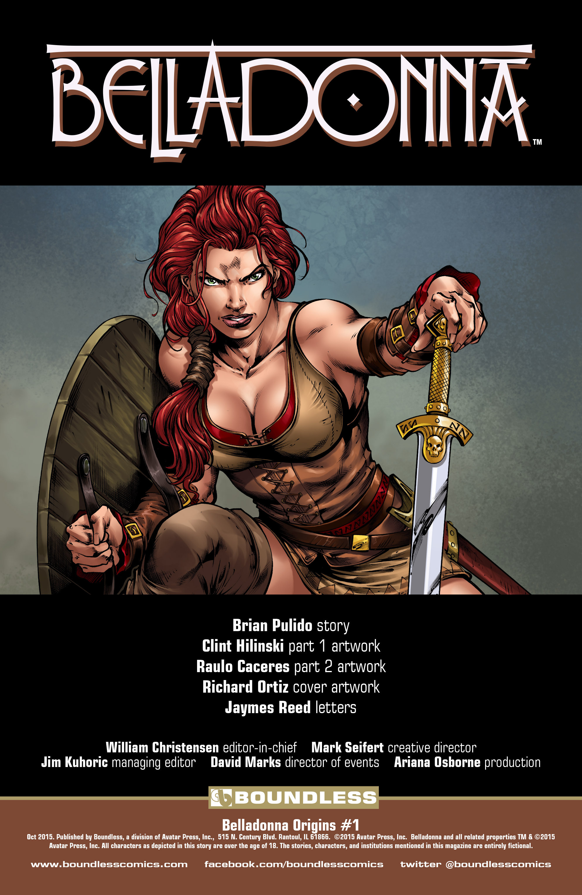 Read online Belladonna: Origins comic -  Issue #1 - 2