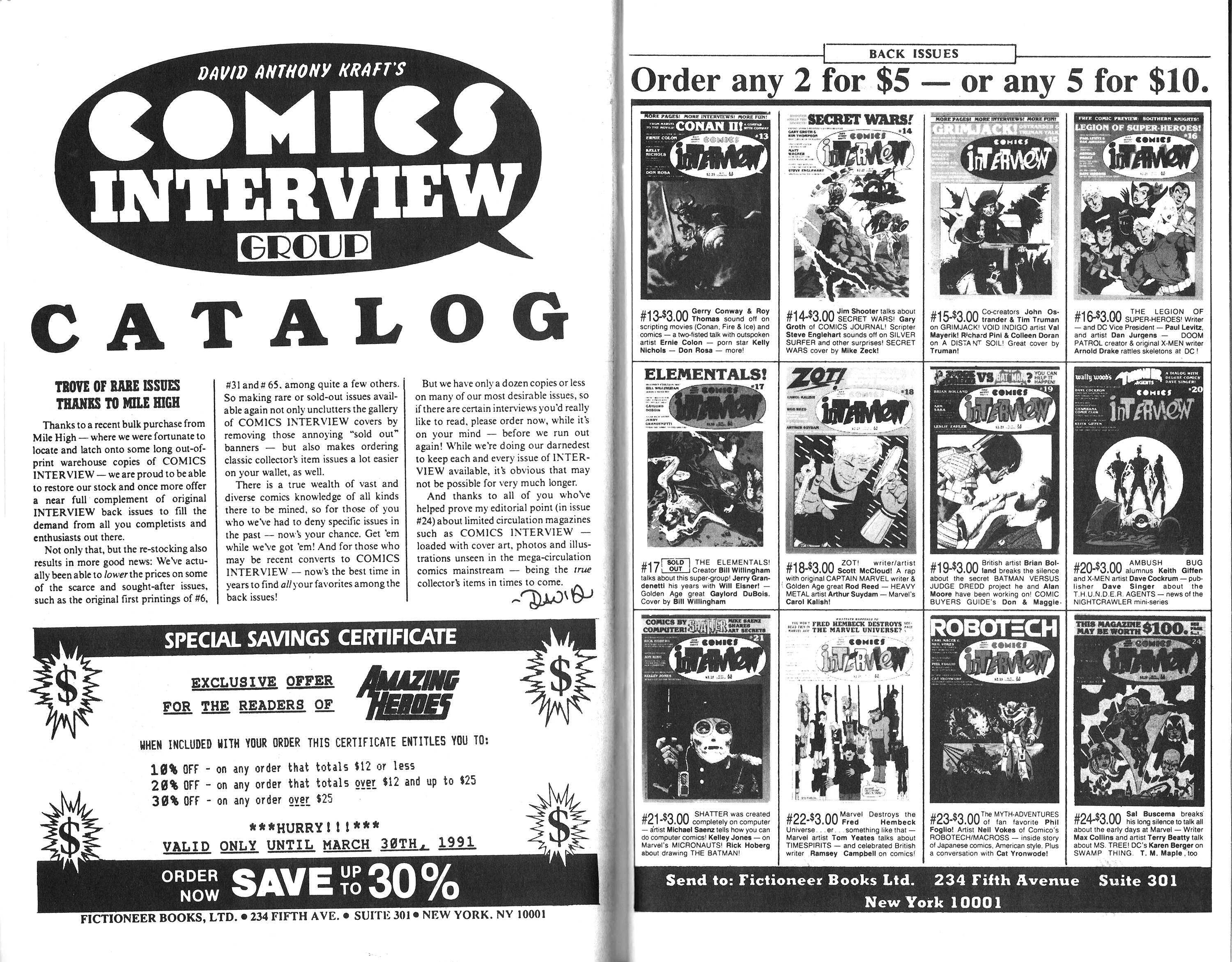 Read online Amazing Heroes comic -  Issue #188 - 27