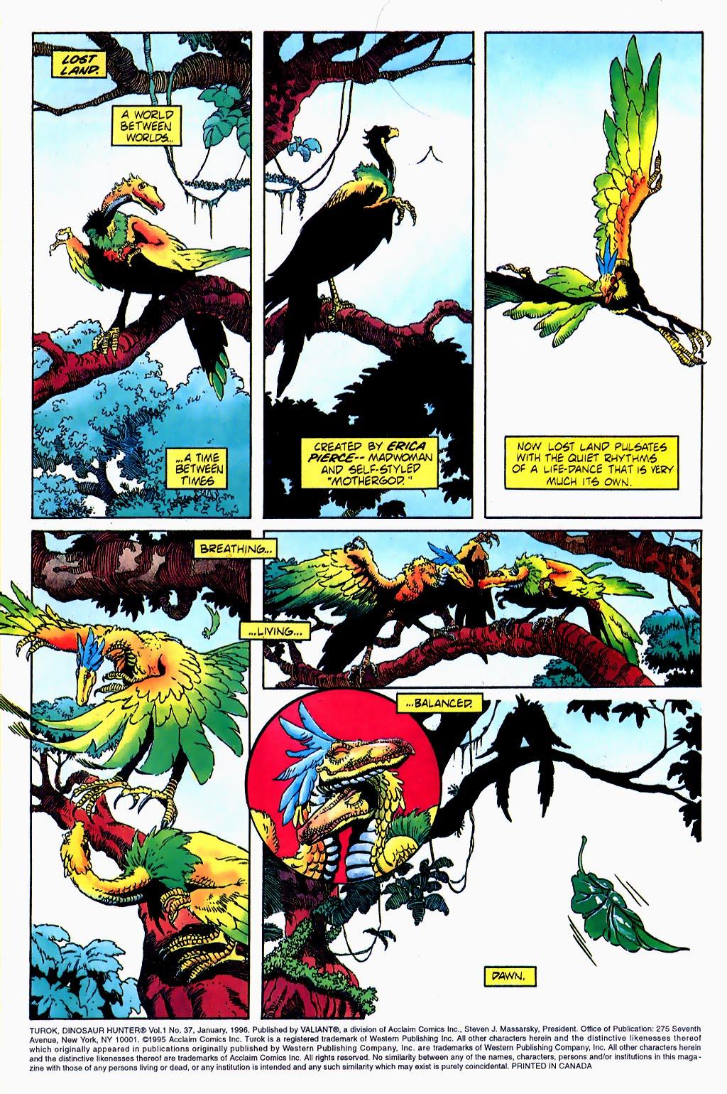 Read online Turok, Dinosaur Hunter (1993) comic -  Issue #37 - 2