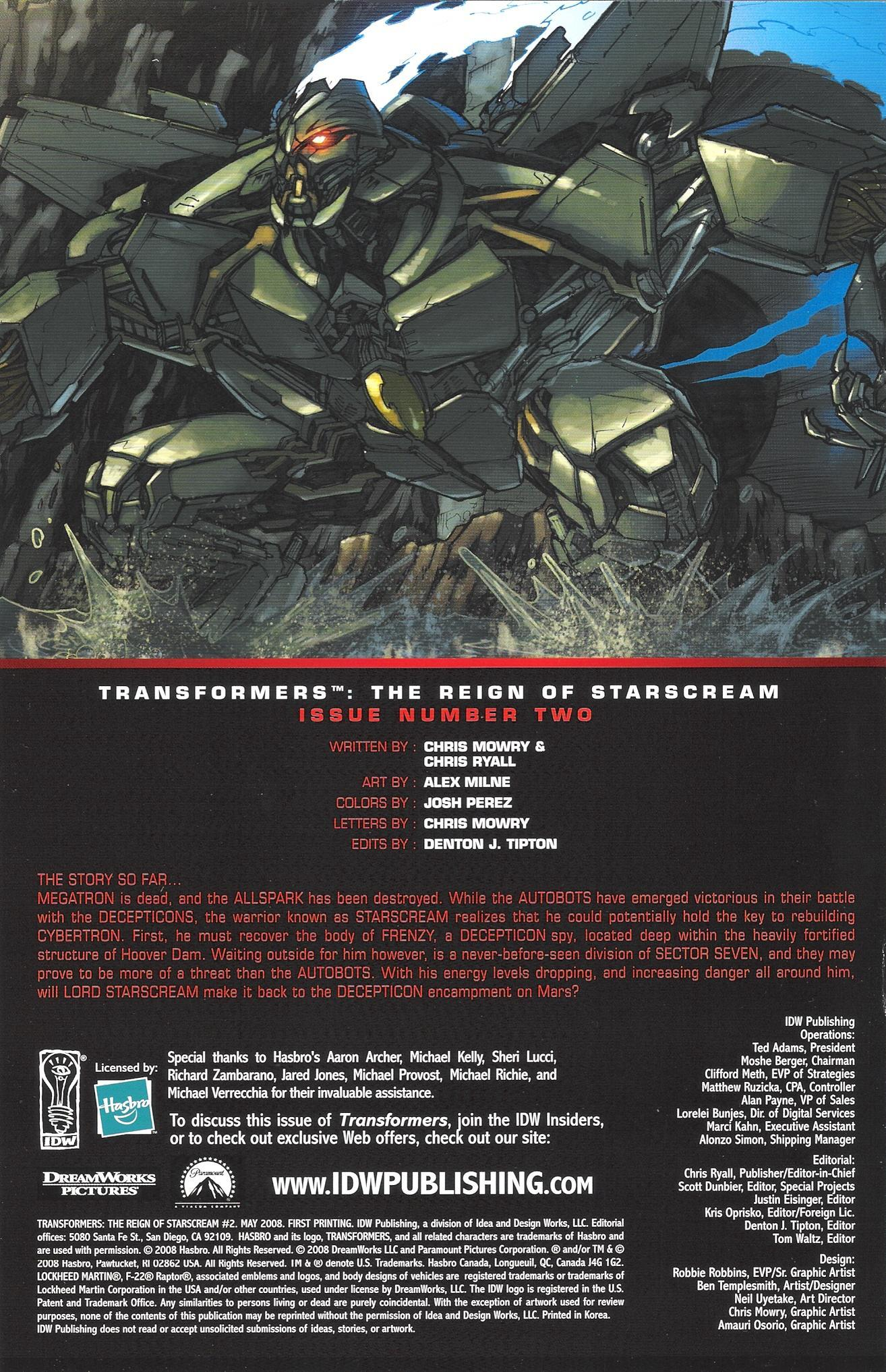 Read online Transformers: The Reign of Starscream comic -  Issue #2 - 2