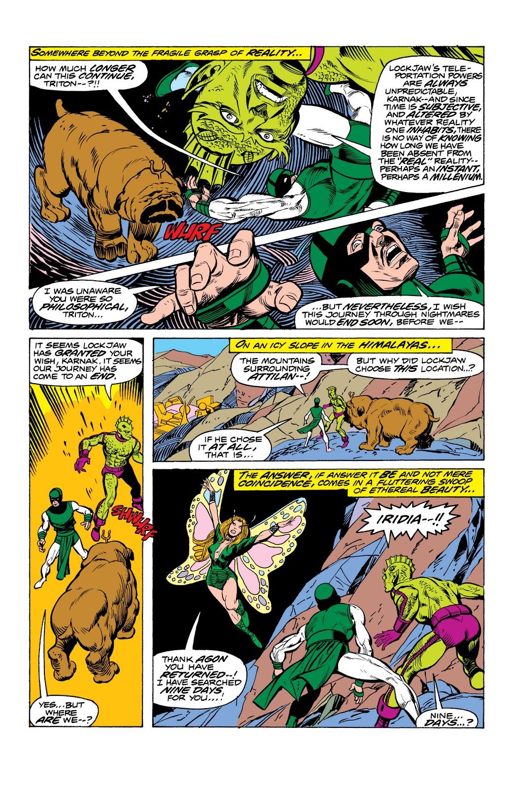 Read online Marvel Masterworks: The Inhumans comic -  Issue # TPB 2 (Part 1) - 92