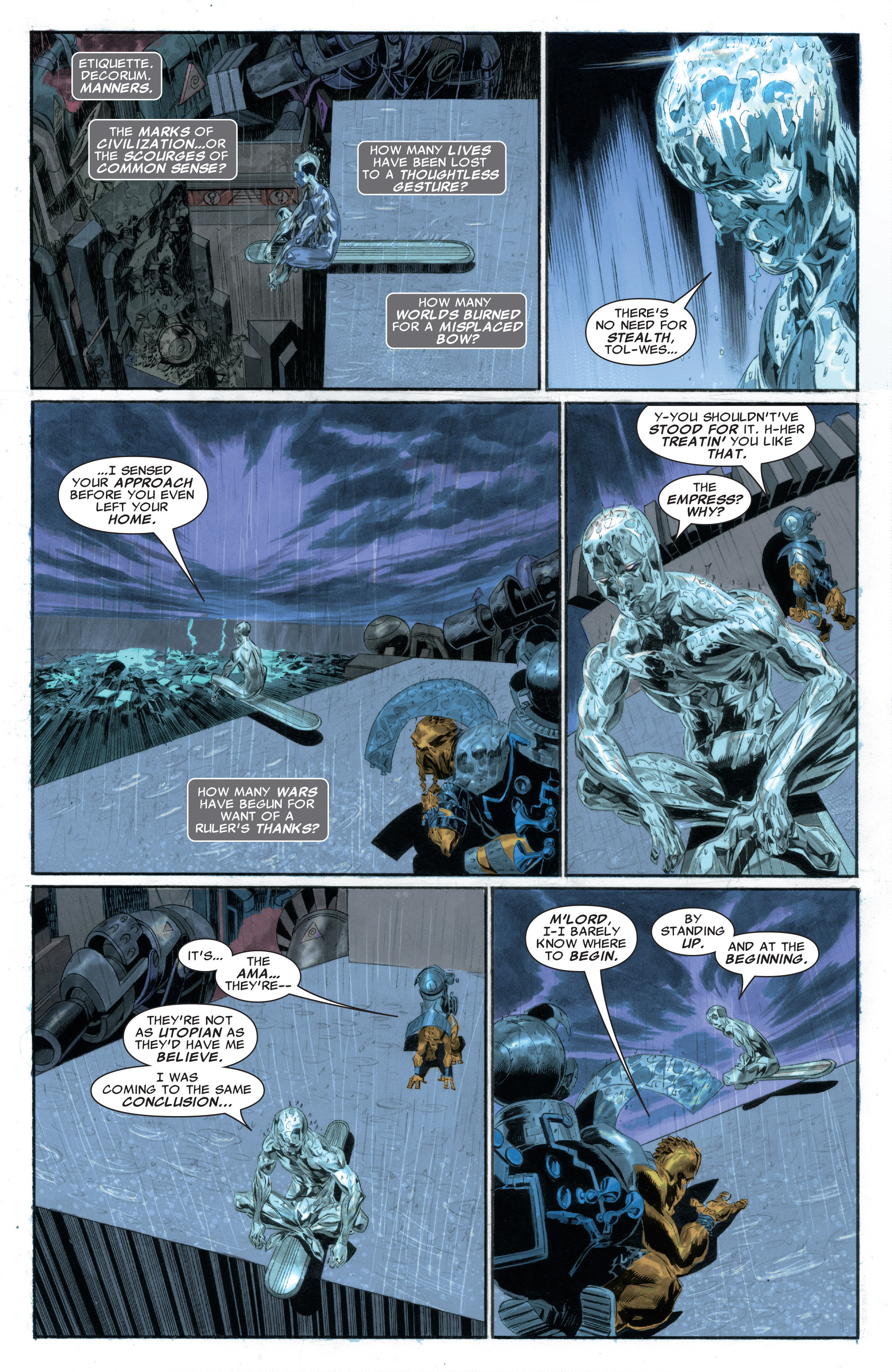 Read online Silver Surfer: In Thy Name comic -  Issue #2 - 12
