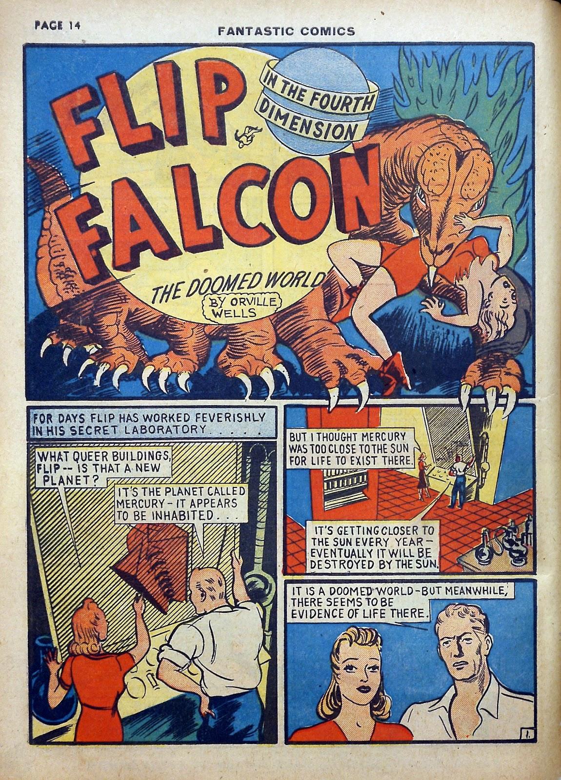 Read online Fantastic Comics comic -  Issue #5 - 15