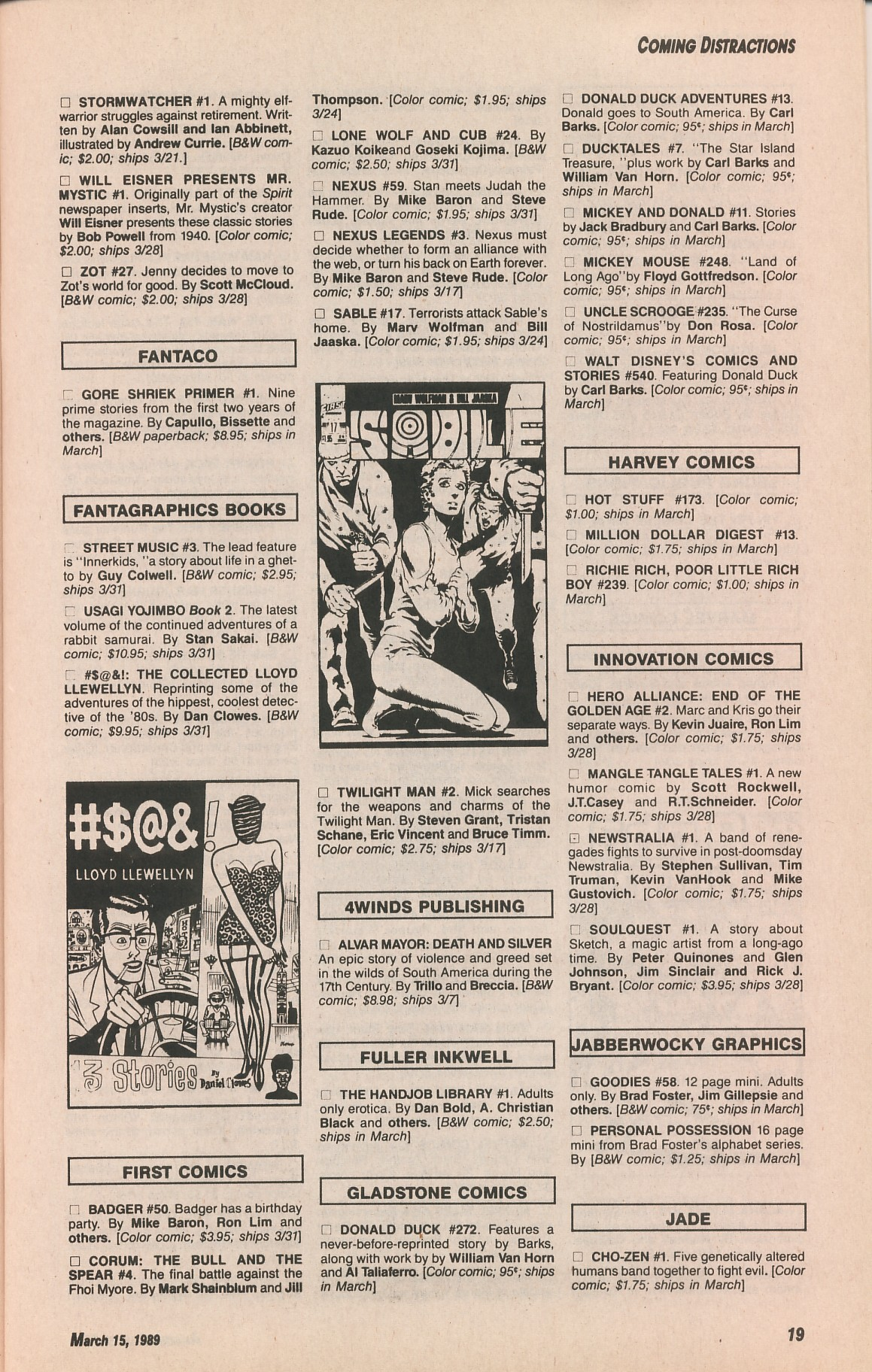 Read online Amazing Heroes comic -  Issue #161 - 19