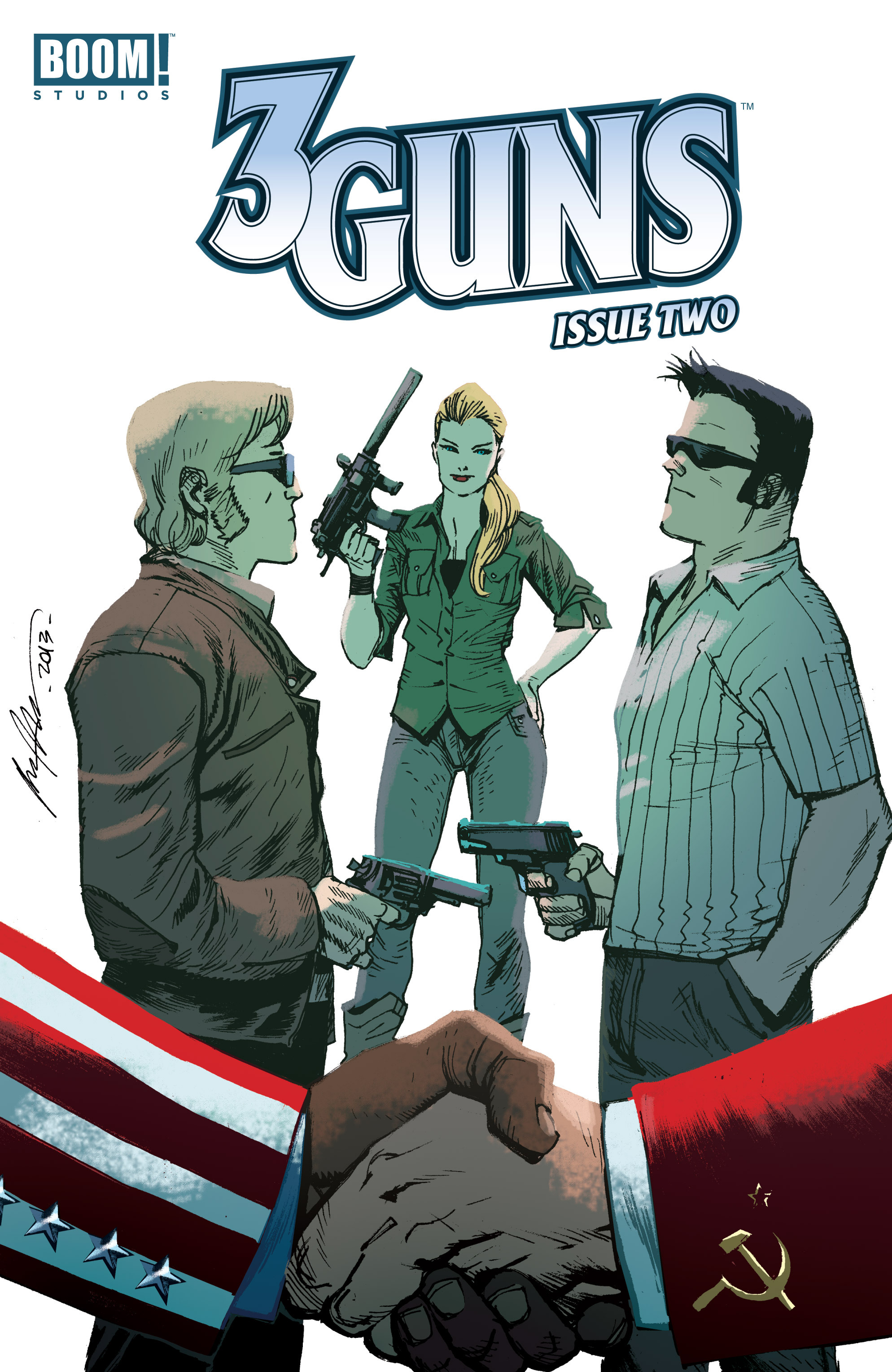 Read online 3 Guns comic -  Issue #2 - 1
