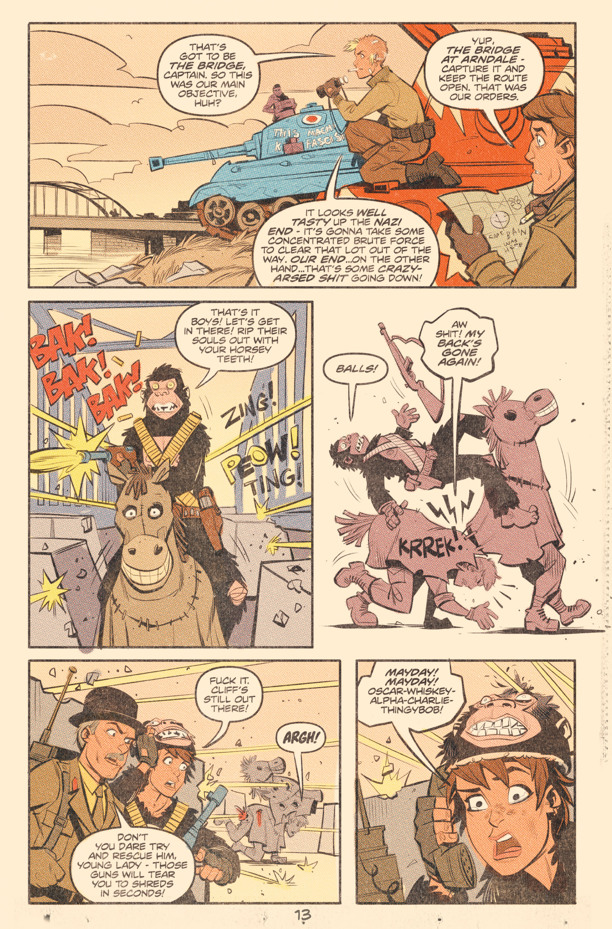 Read online Tank Girl: World War Tank Girl comic -  Issue #2 - 15