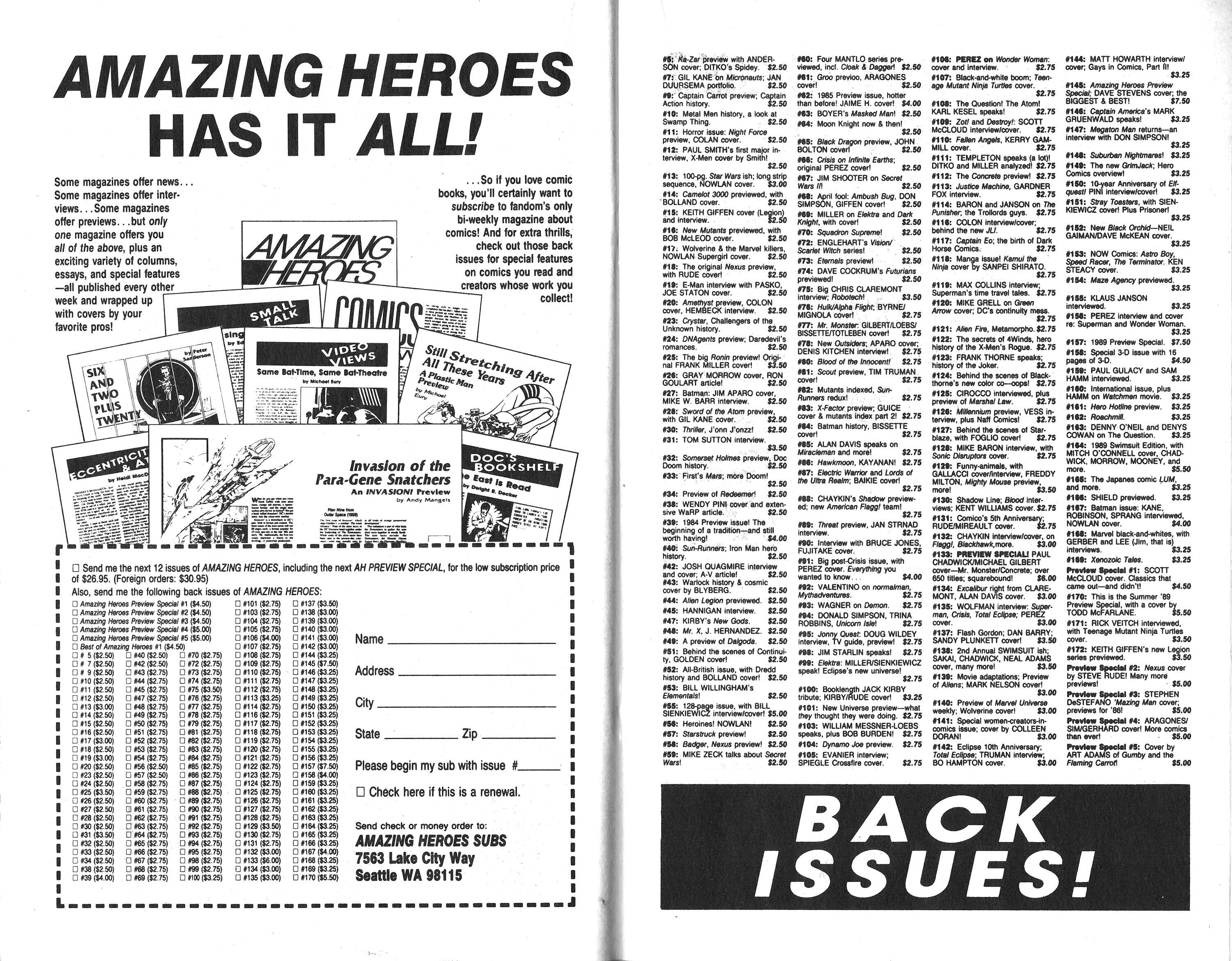 Read online Amazing Heroes comic -  Issue #173 - 28
