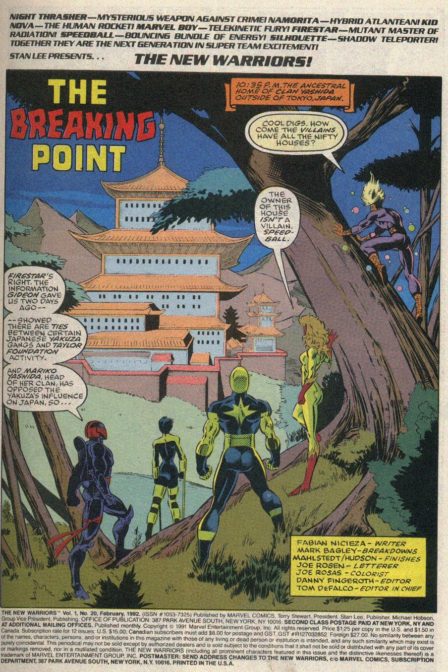 The New Warriors Issue #20 #24 - English 2