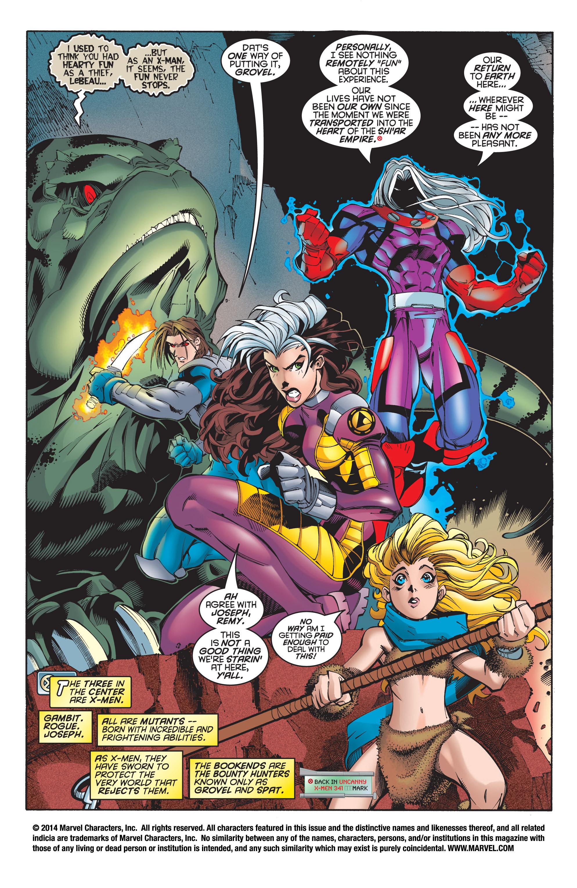 Read online Uncanny X-Men (1963) comic -  Issue #348 - 2