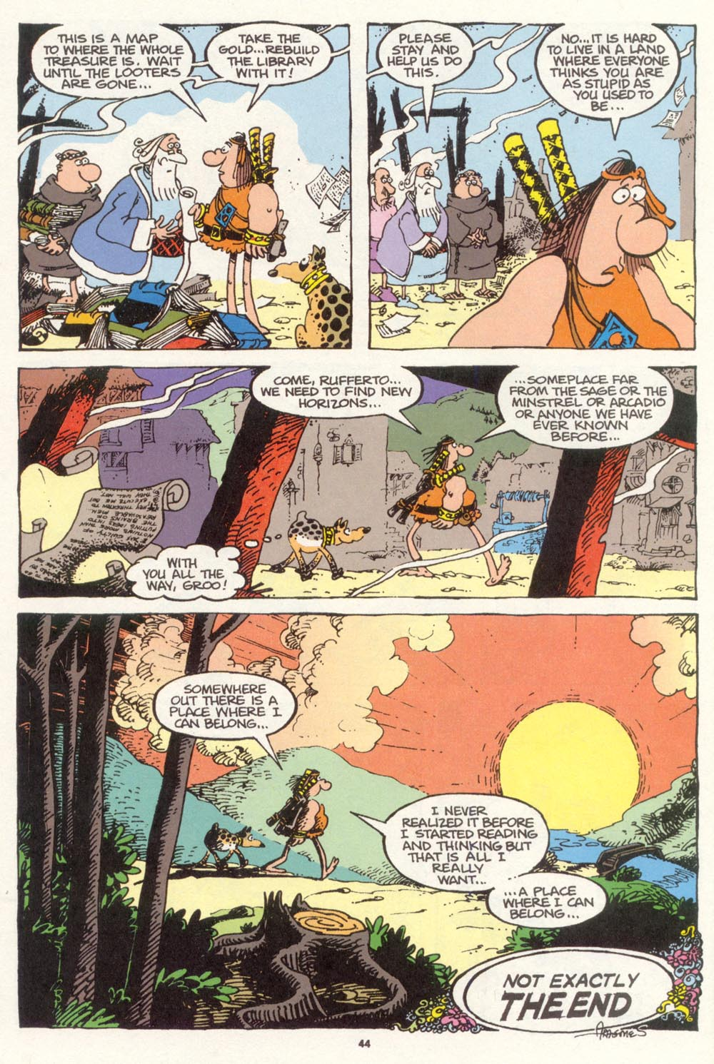 Read online Sergio Aragonés Groo the Wanderer comic -  Issue #100 - 45