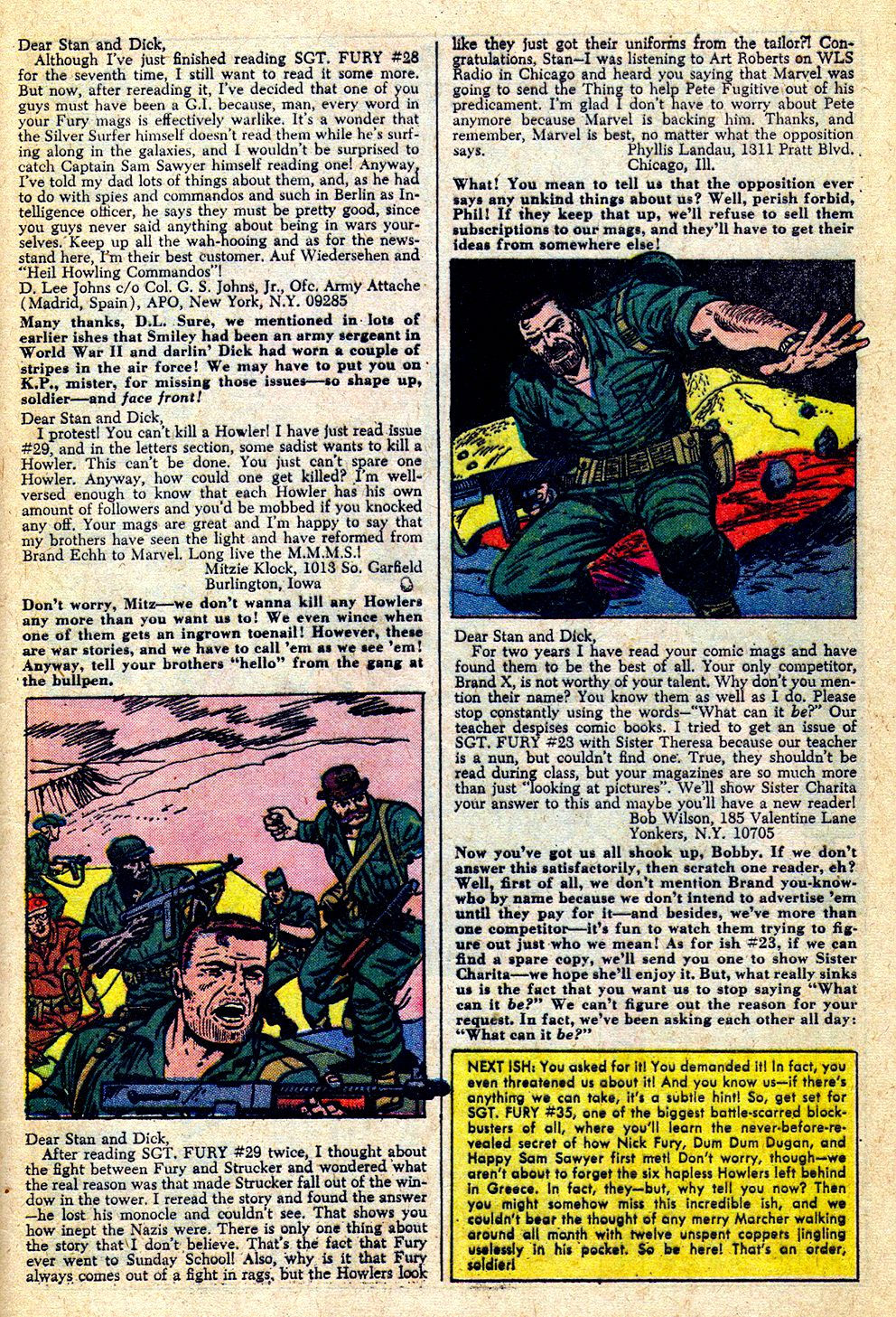 Read online Sgt. Fury comic -  Issue #33 - 33
