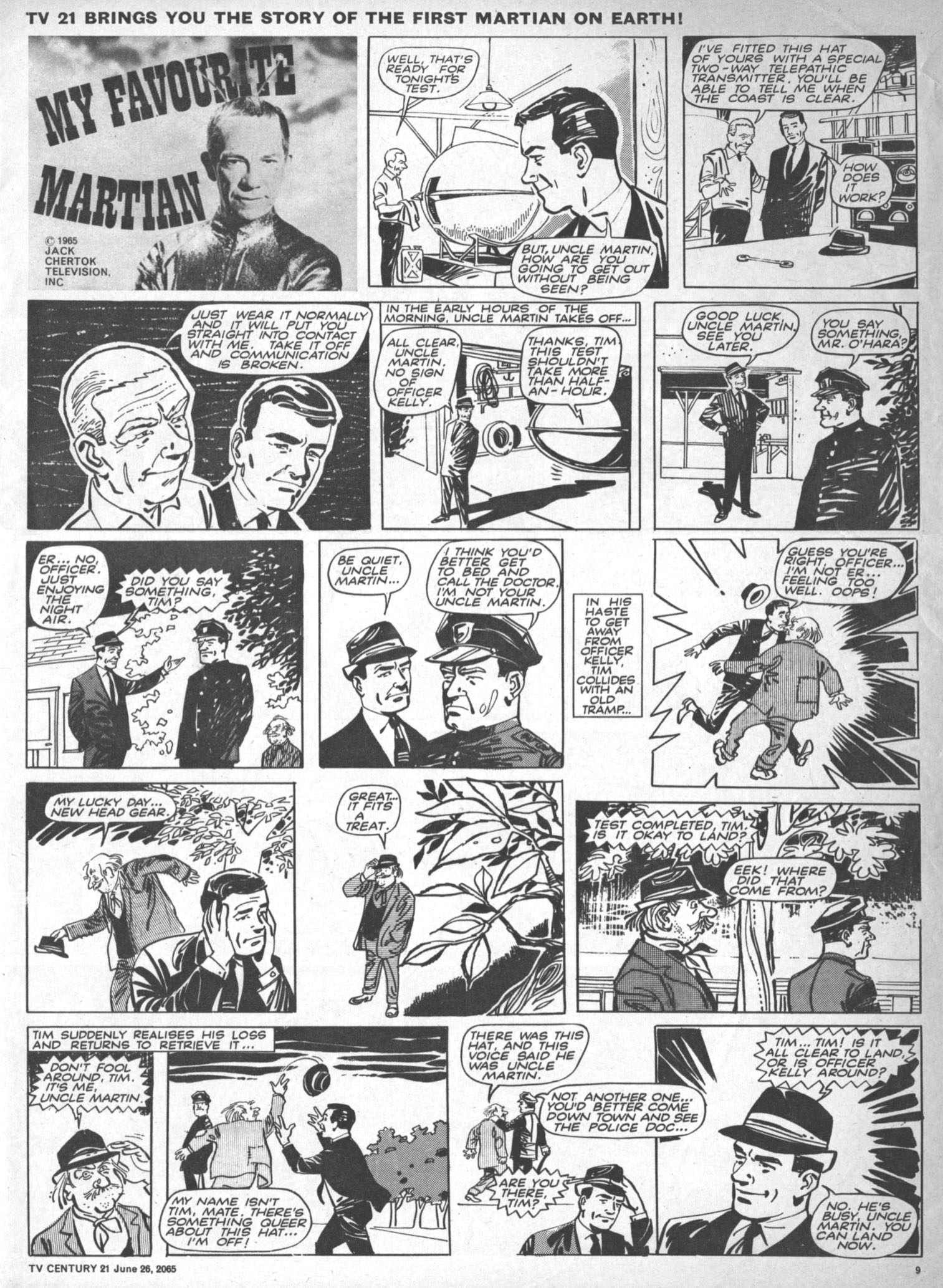 Read online TV Century 21 (TV 21) comic -  Issue #23 - 9