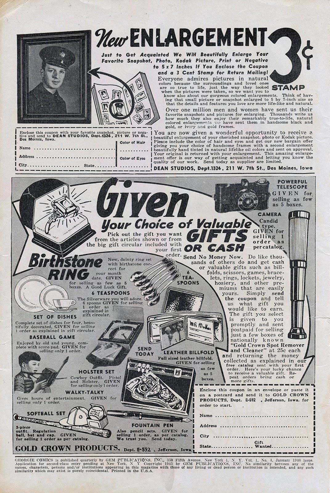 Georgie Comics (1945) issue 4 - Page 2