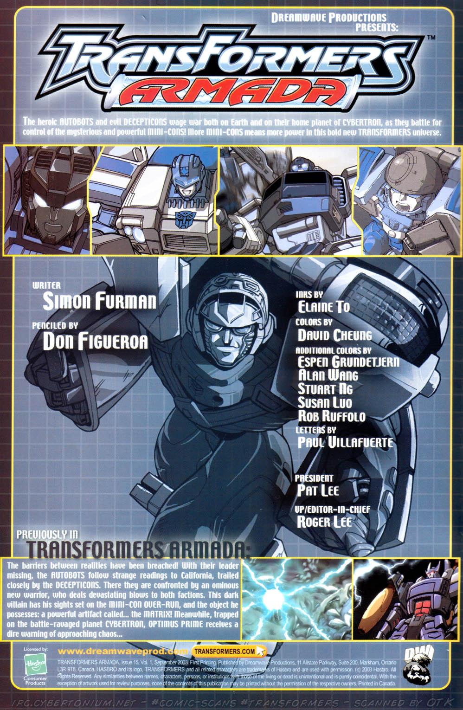 Read online Transformers Armada comic -  Issue #15 - 2