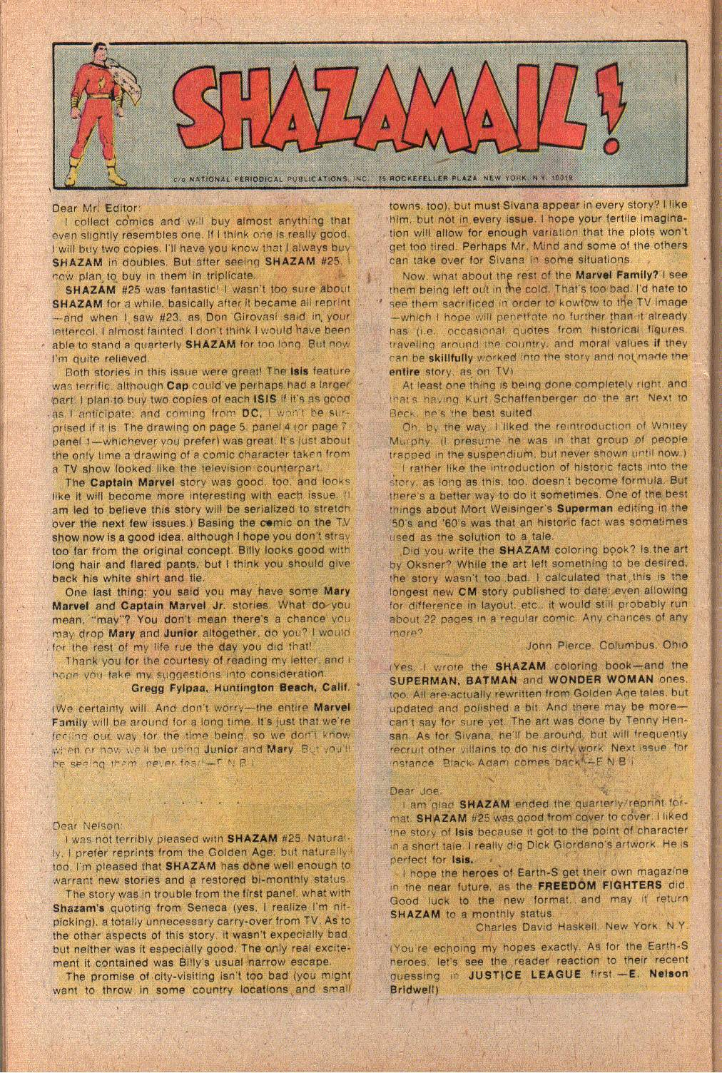 Read online Shazam! (1973) comic -  Issue #27 - 32