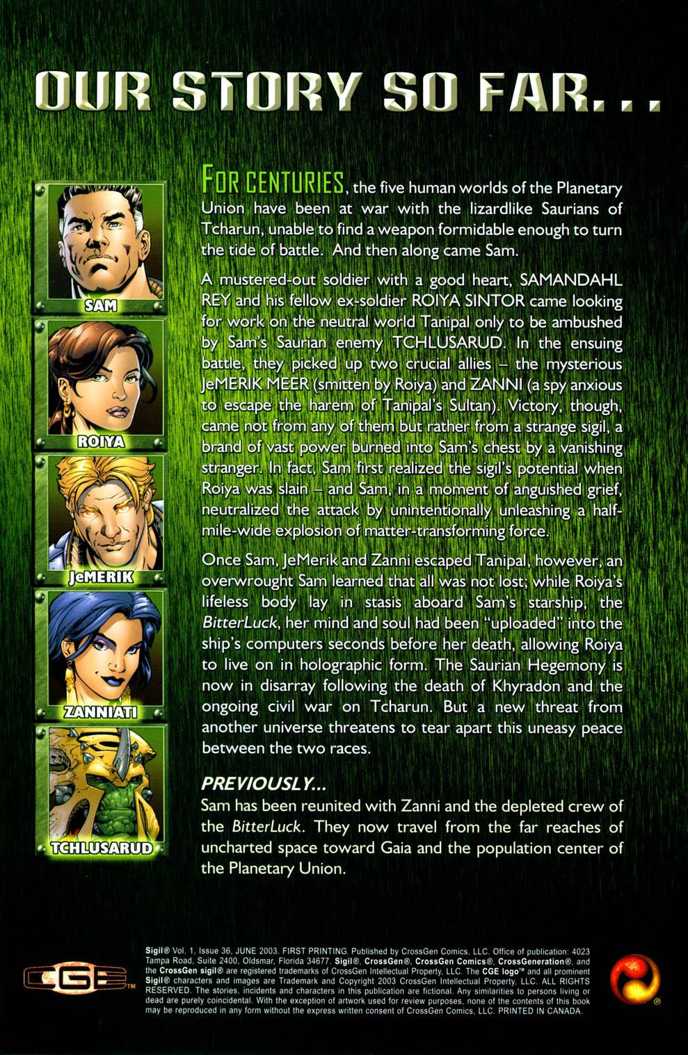Read online Sigil (2000) comic -  Issue #36 - 4