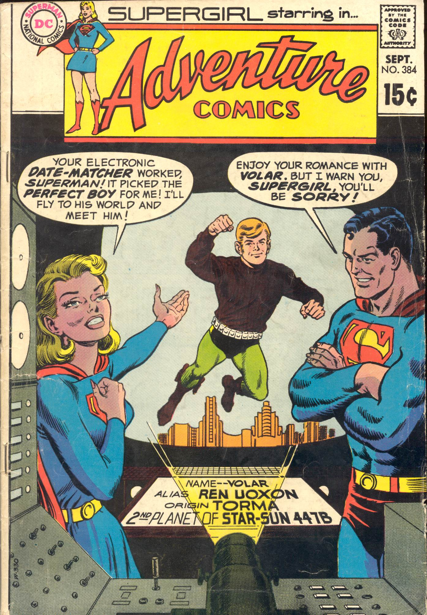 Read online Adventure Comics (1938) comic -  Issue #384 - 1