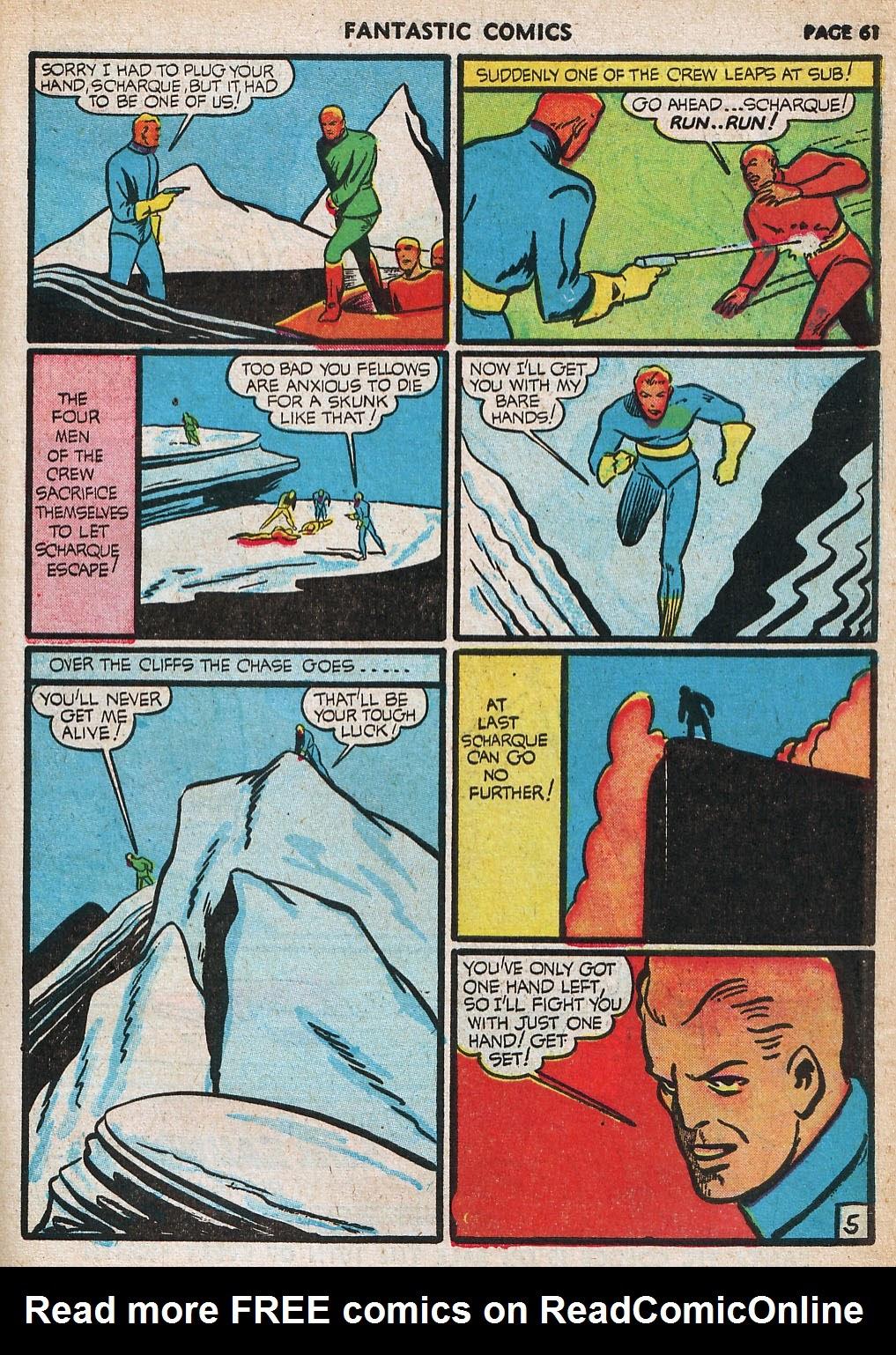 Read online Fantastic Comics comic -  Issue #20 - 61