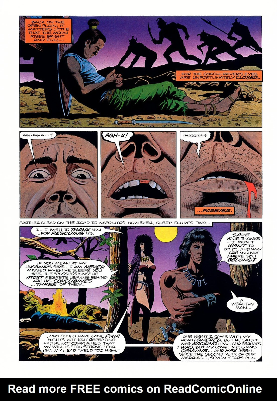 Read online Marvel Graphic Novel: Conan the Barbarian: The Skull of Set comic -  Issue # Full - 24