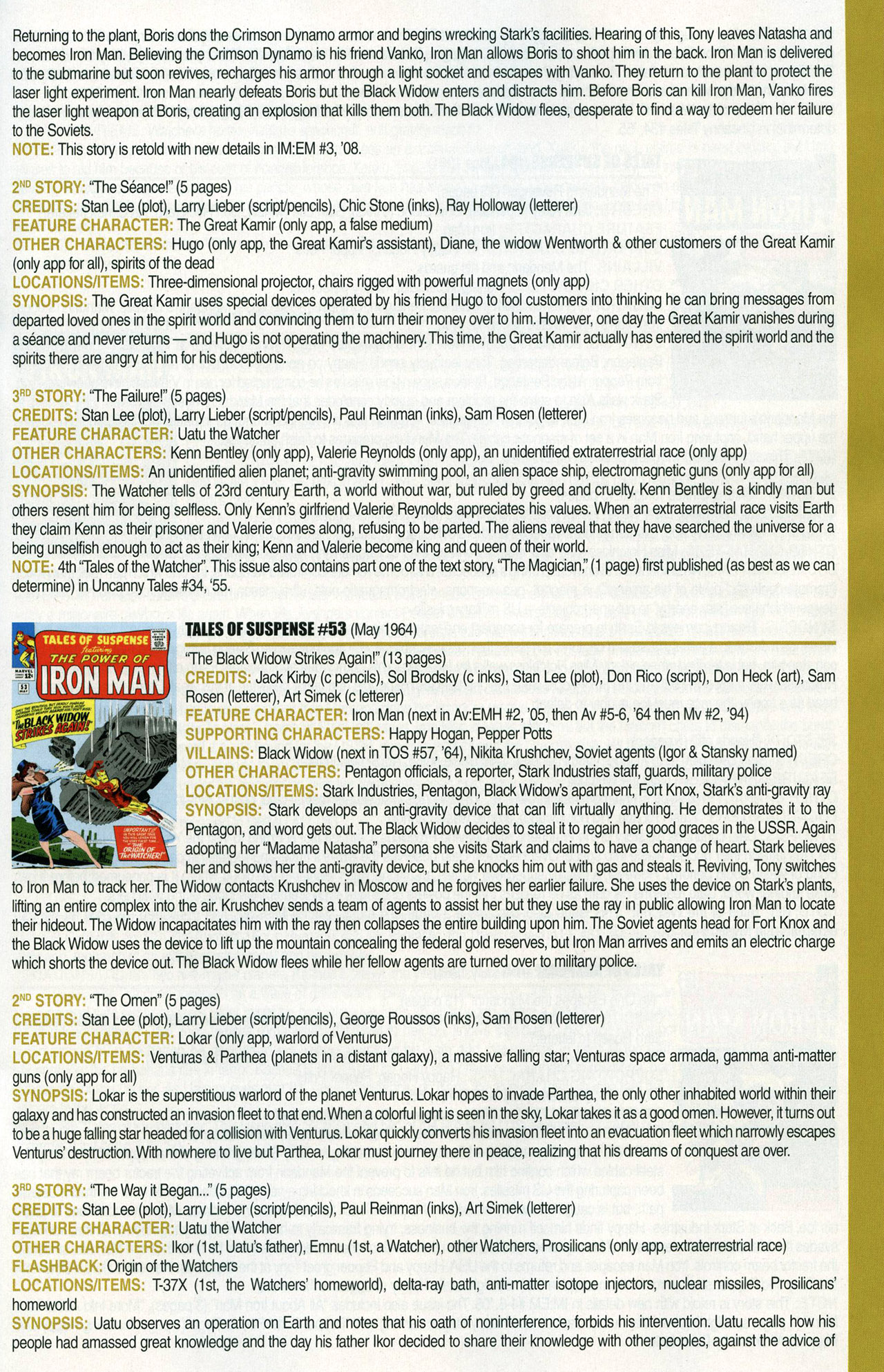 Read online Official Index to the Marvel Universe comic -  Issue #1 - 33