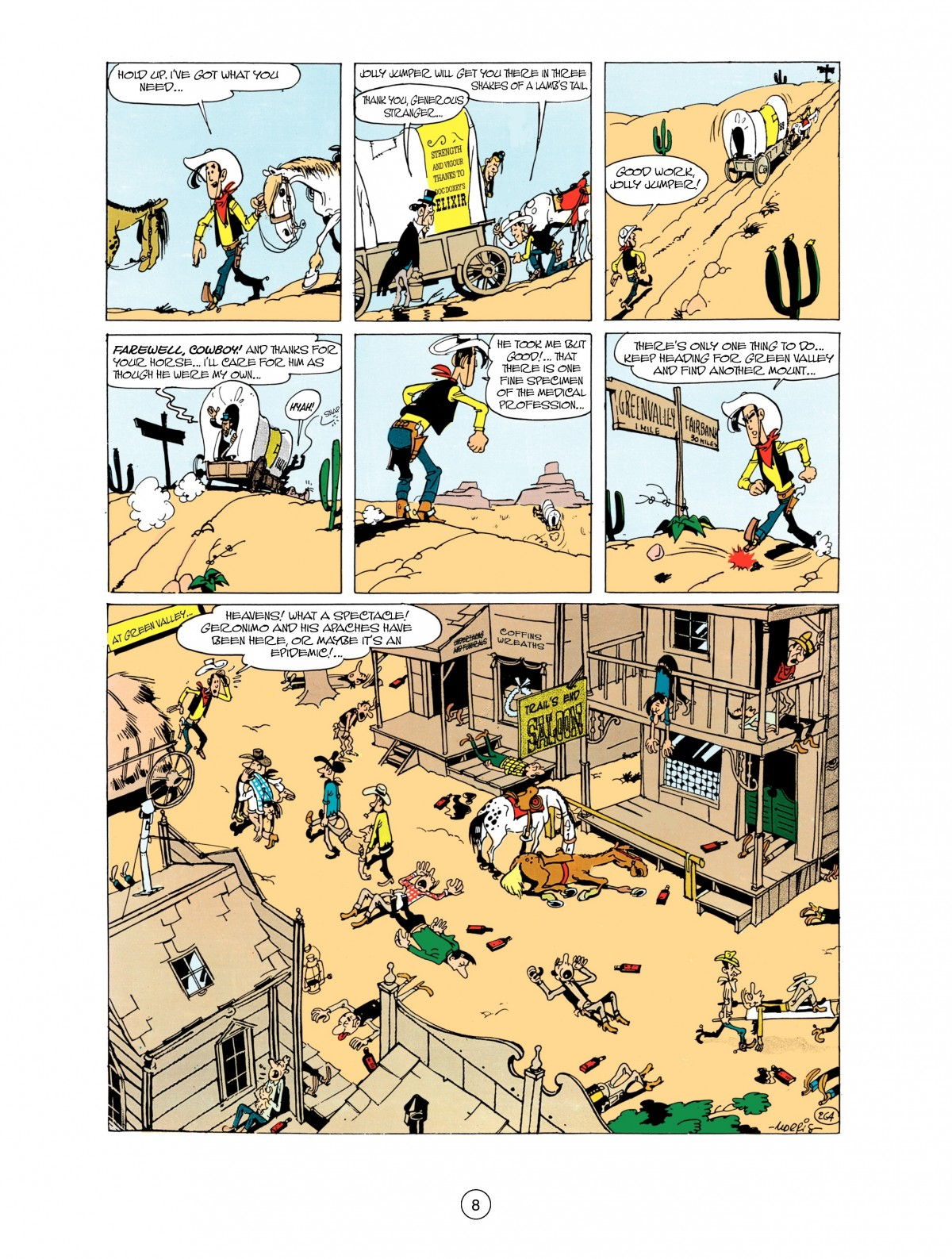 Read online A Lucky Luke Adventure comic -  Issue #38 - 8