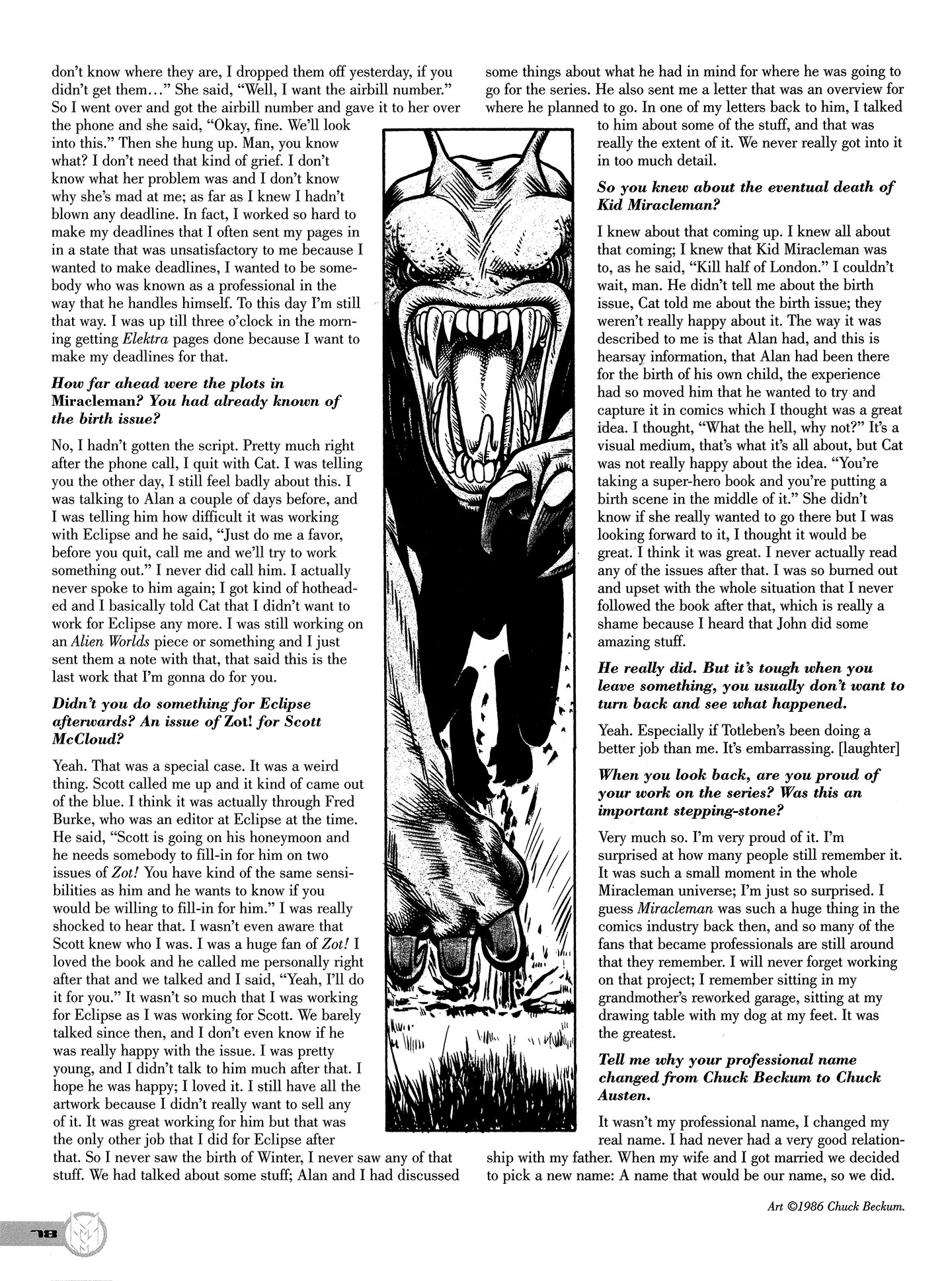 Read online Kimota!: The Miracleman Companion comic -  Issue # Full - 79