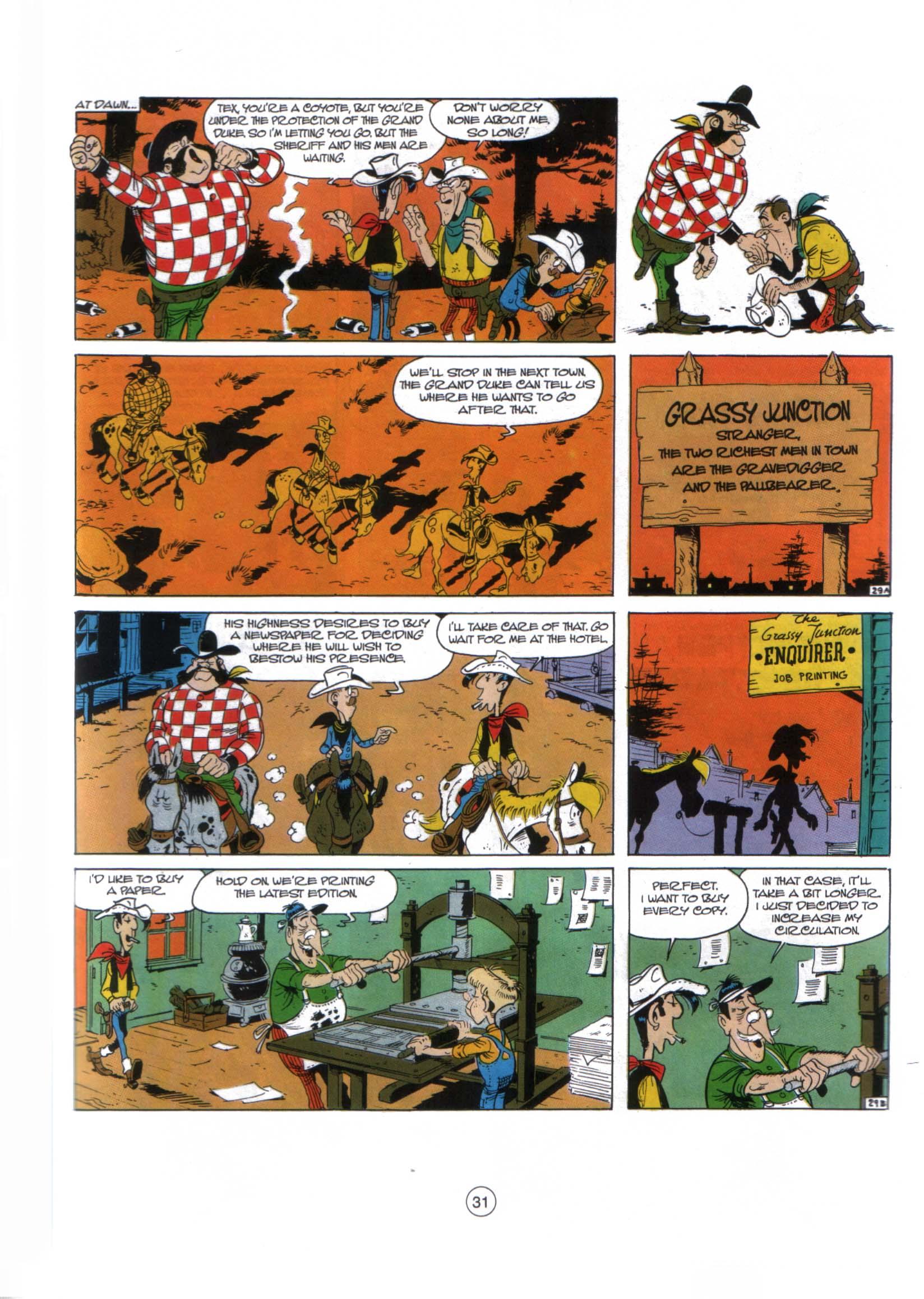 Read online A Lucky Luke Adventure comic -  Issue #29 - 30