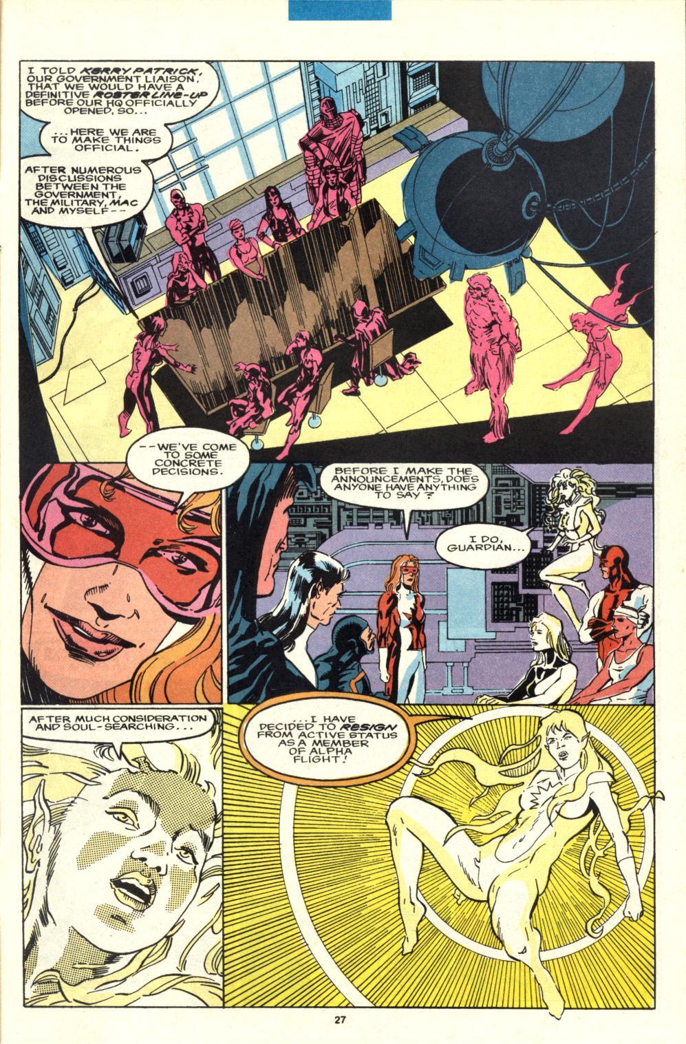 Read online Alpha Flight (1983) comic -  Issue #95 - 22
