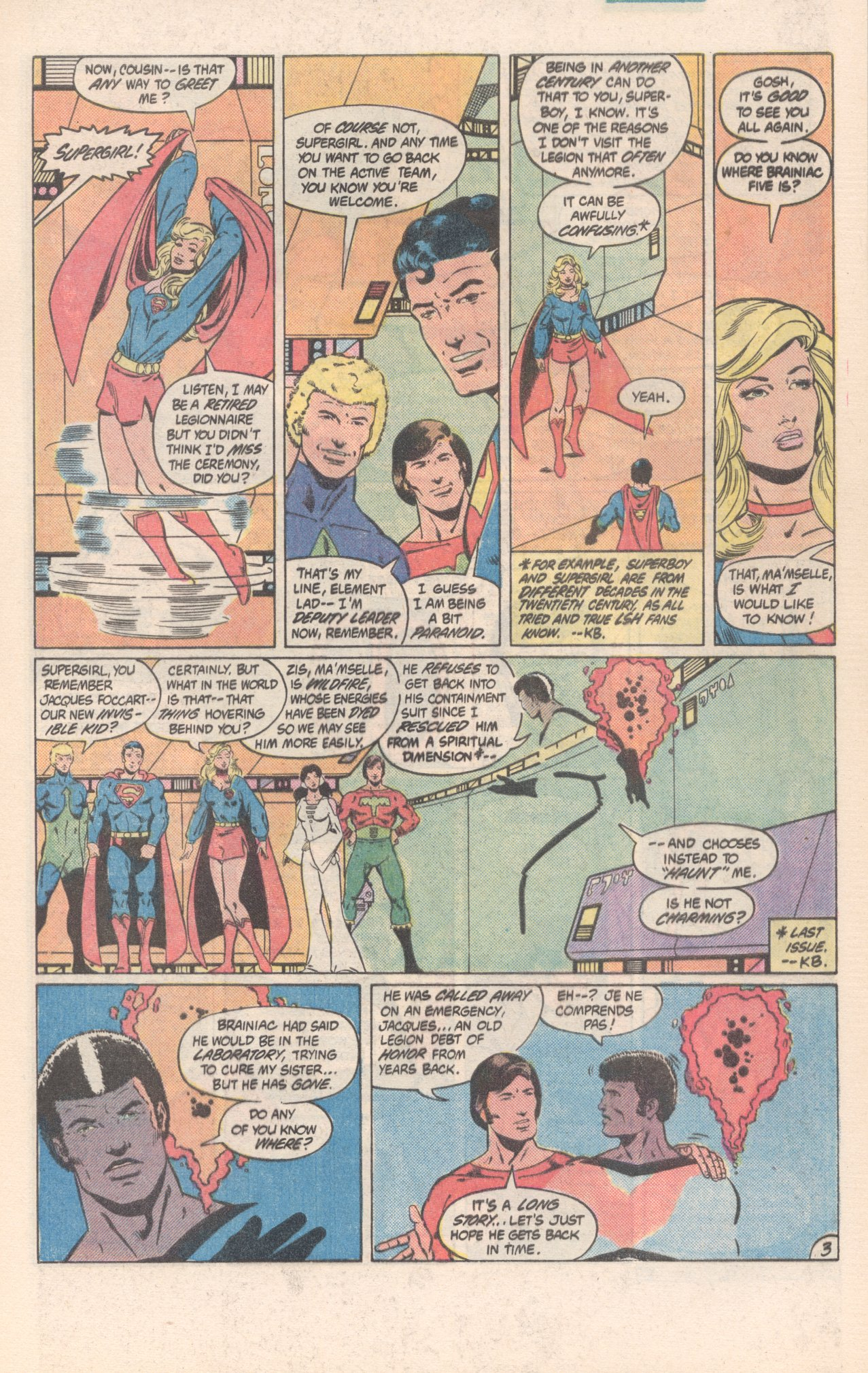 Legion of Super-Heroes (1980) 300 Page 3
