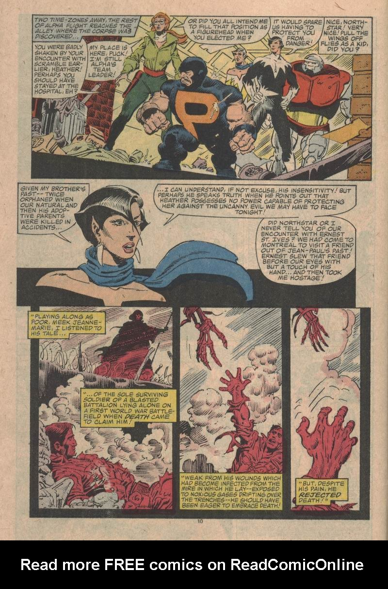 Read online Alpha Flight (1983) comic -  Issue #31 - 11