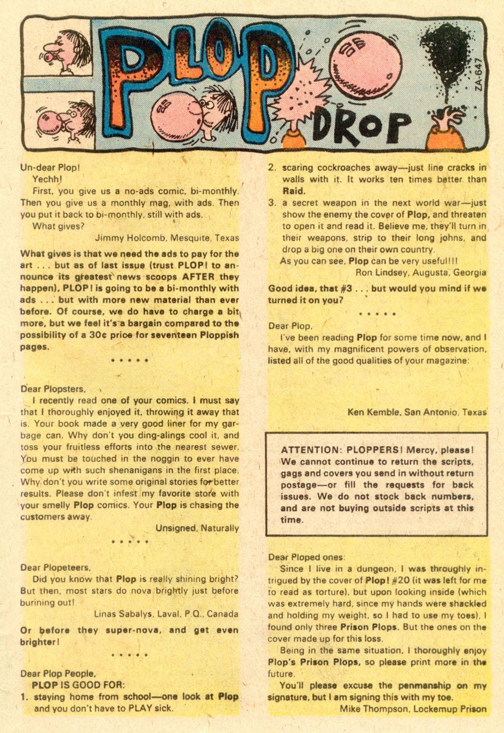 Read online Plop! comic -  Issue #22 - 21
